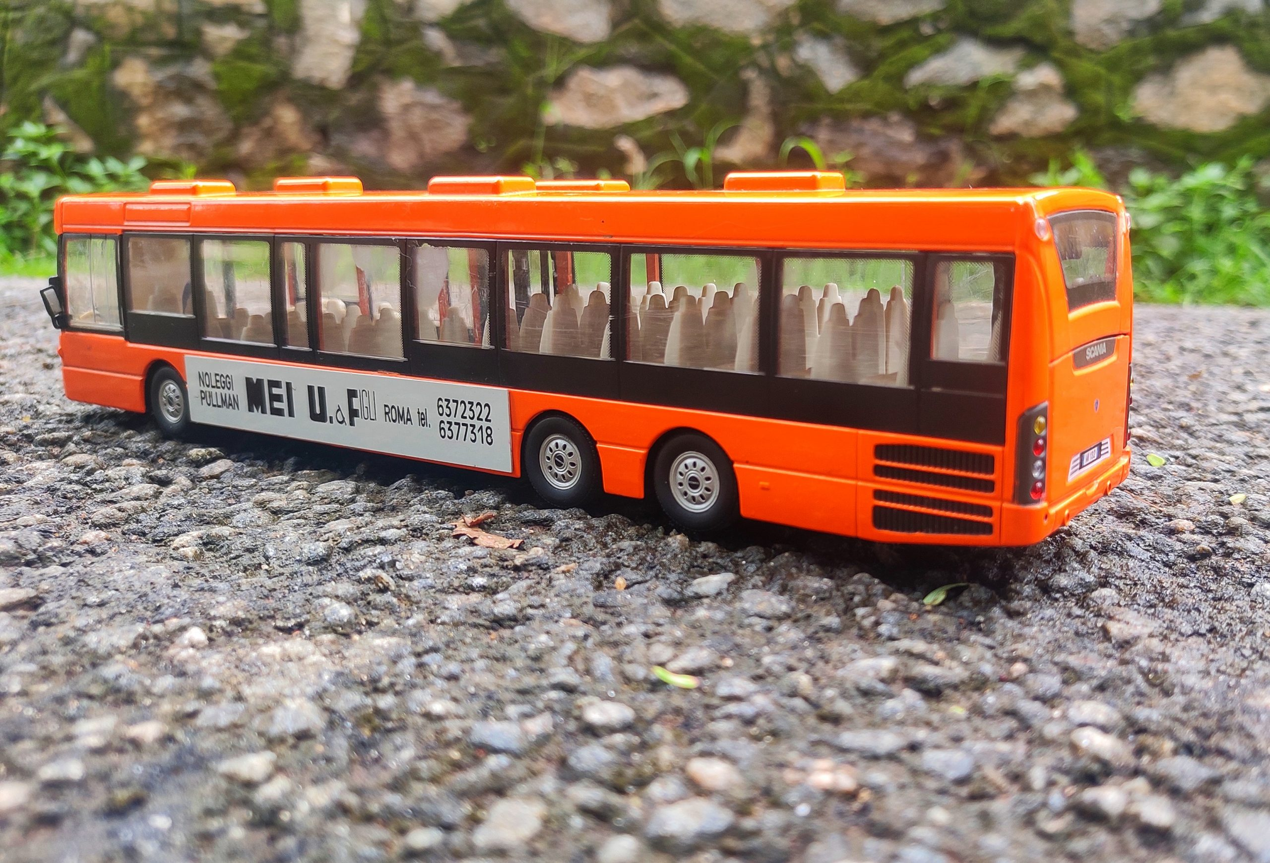 A miniature bus model