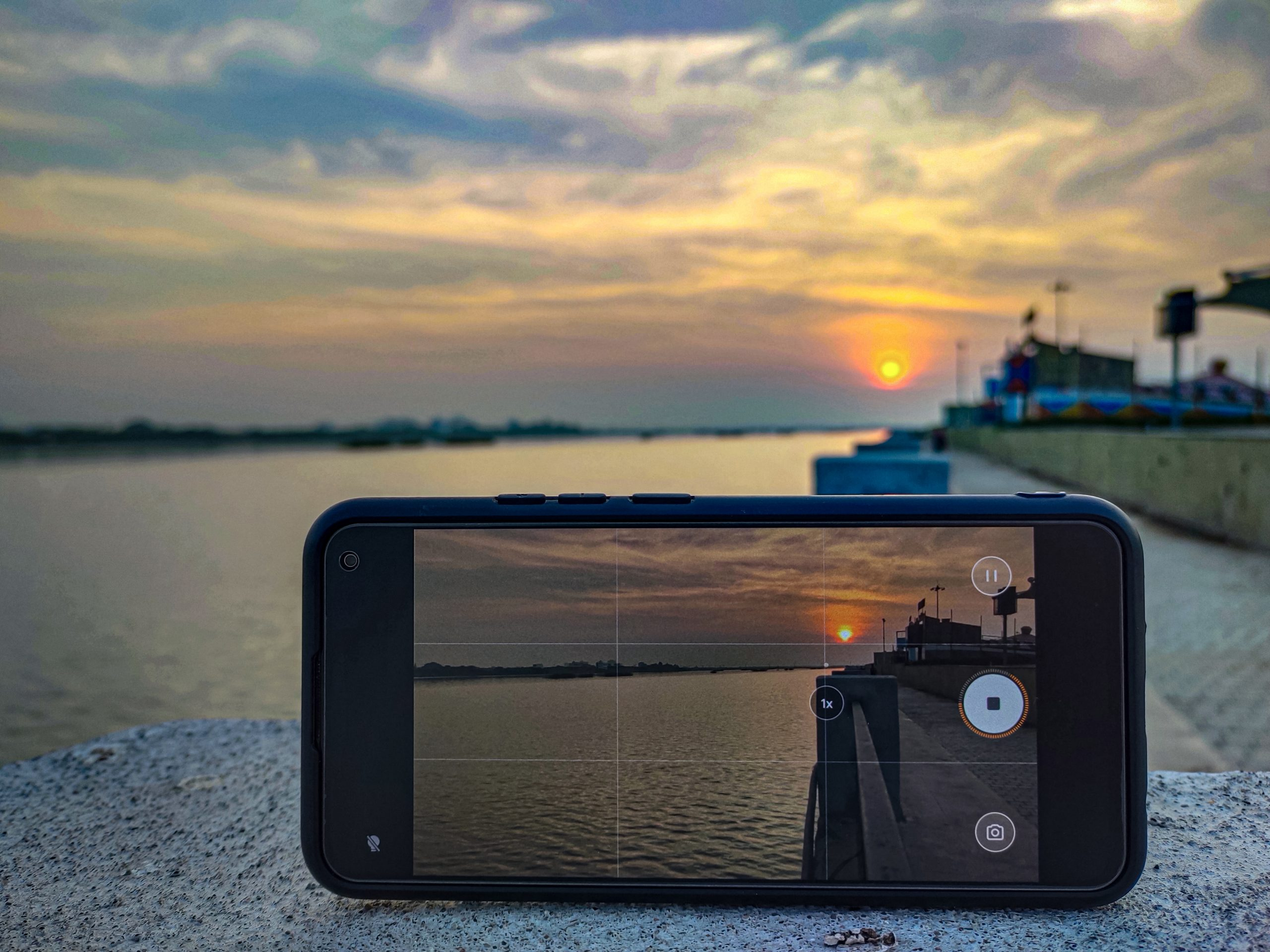 A mobile phone camera photography