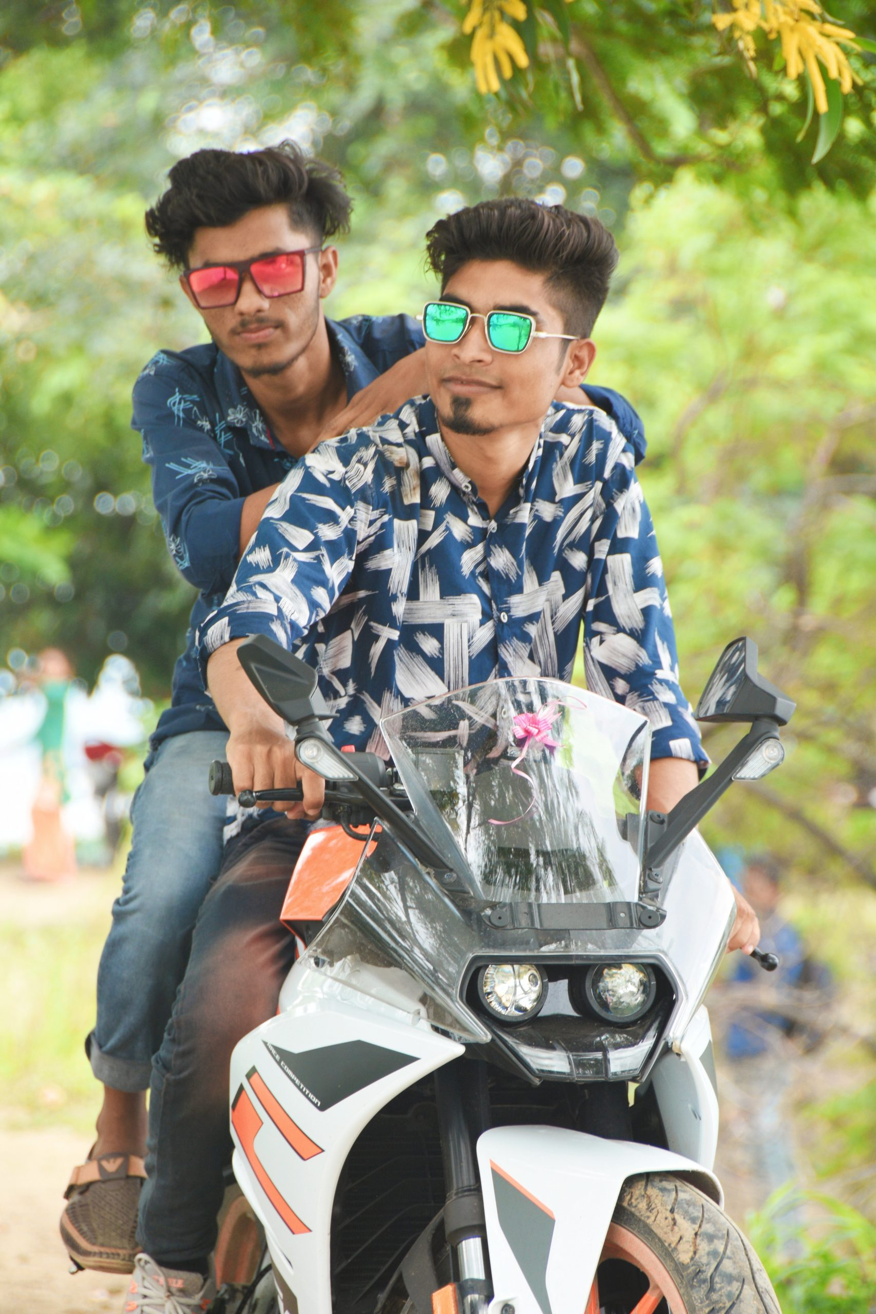 Boys on a bike