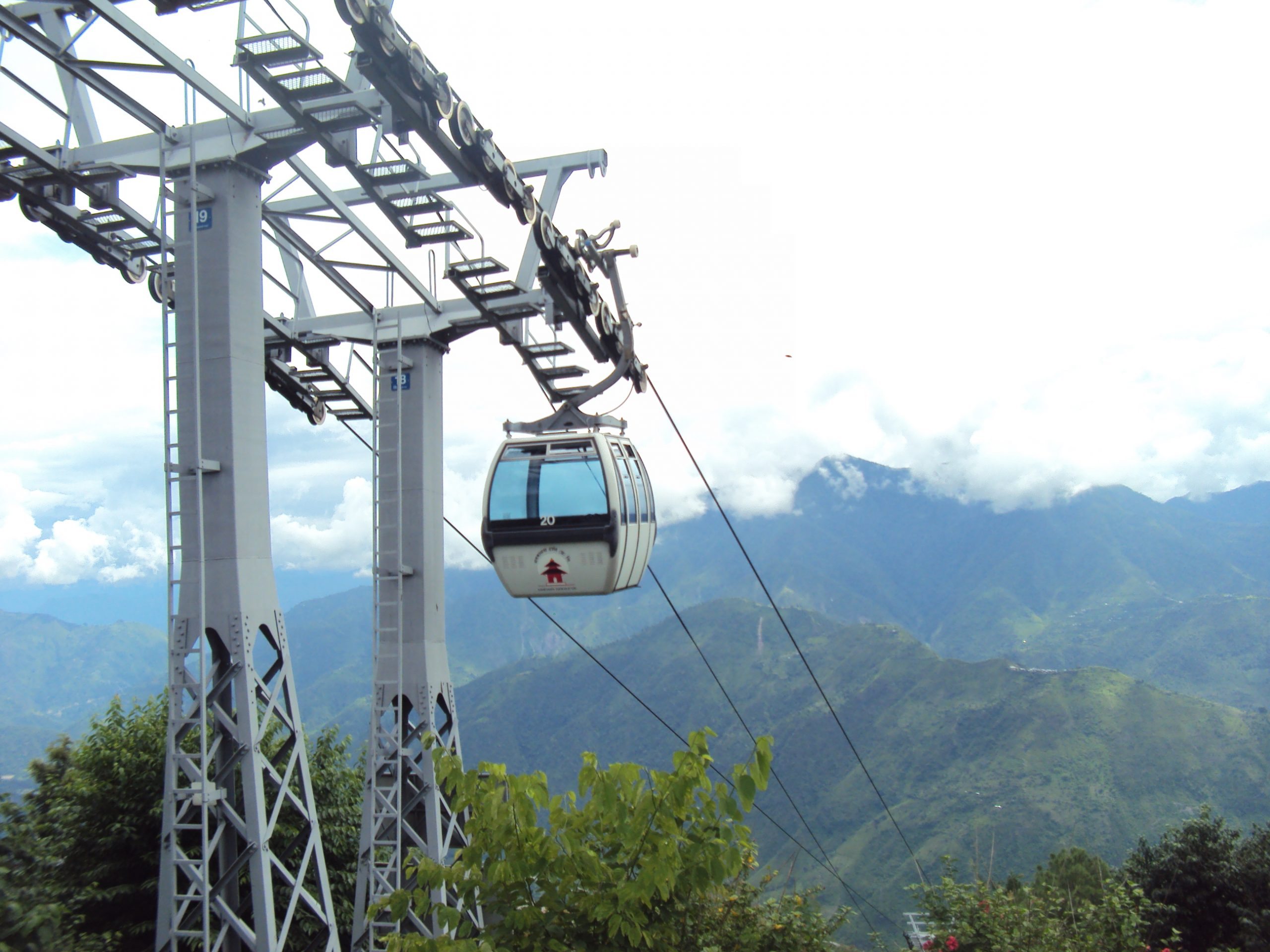 A ropeway in Manakamna temple, Nepal