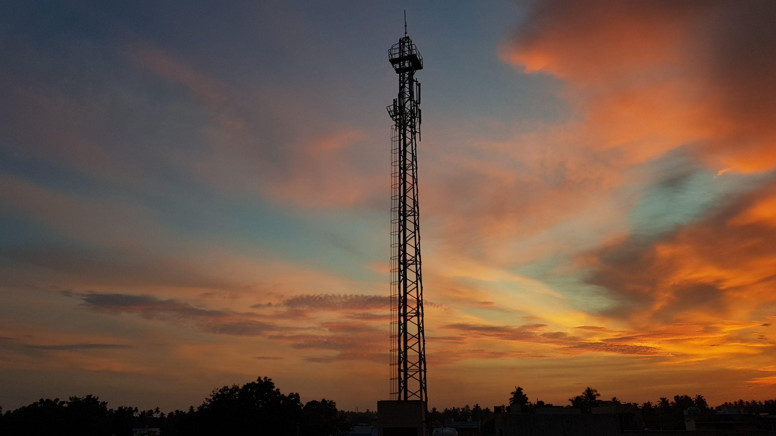 A telecom tower