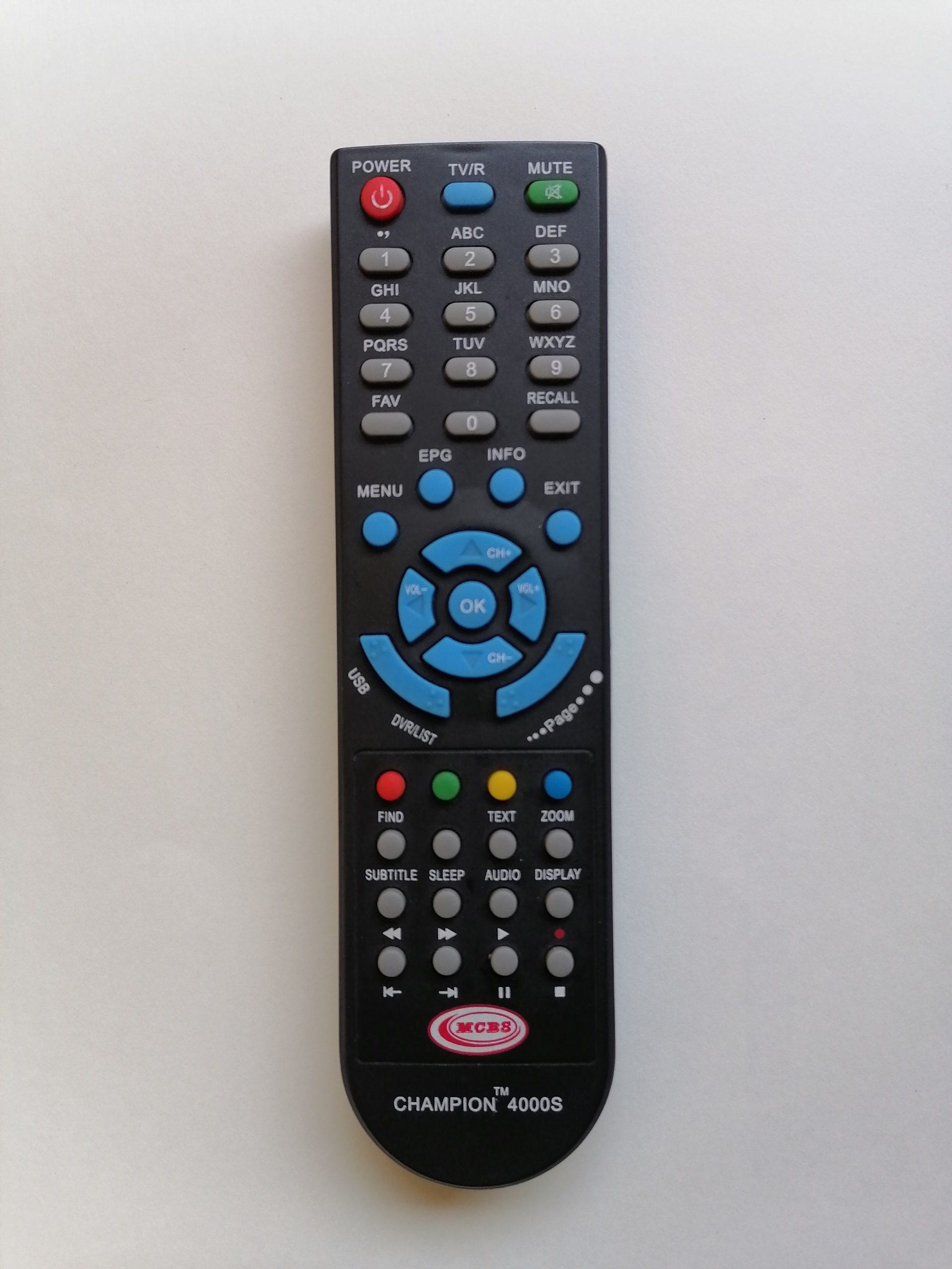 A television remote