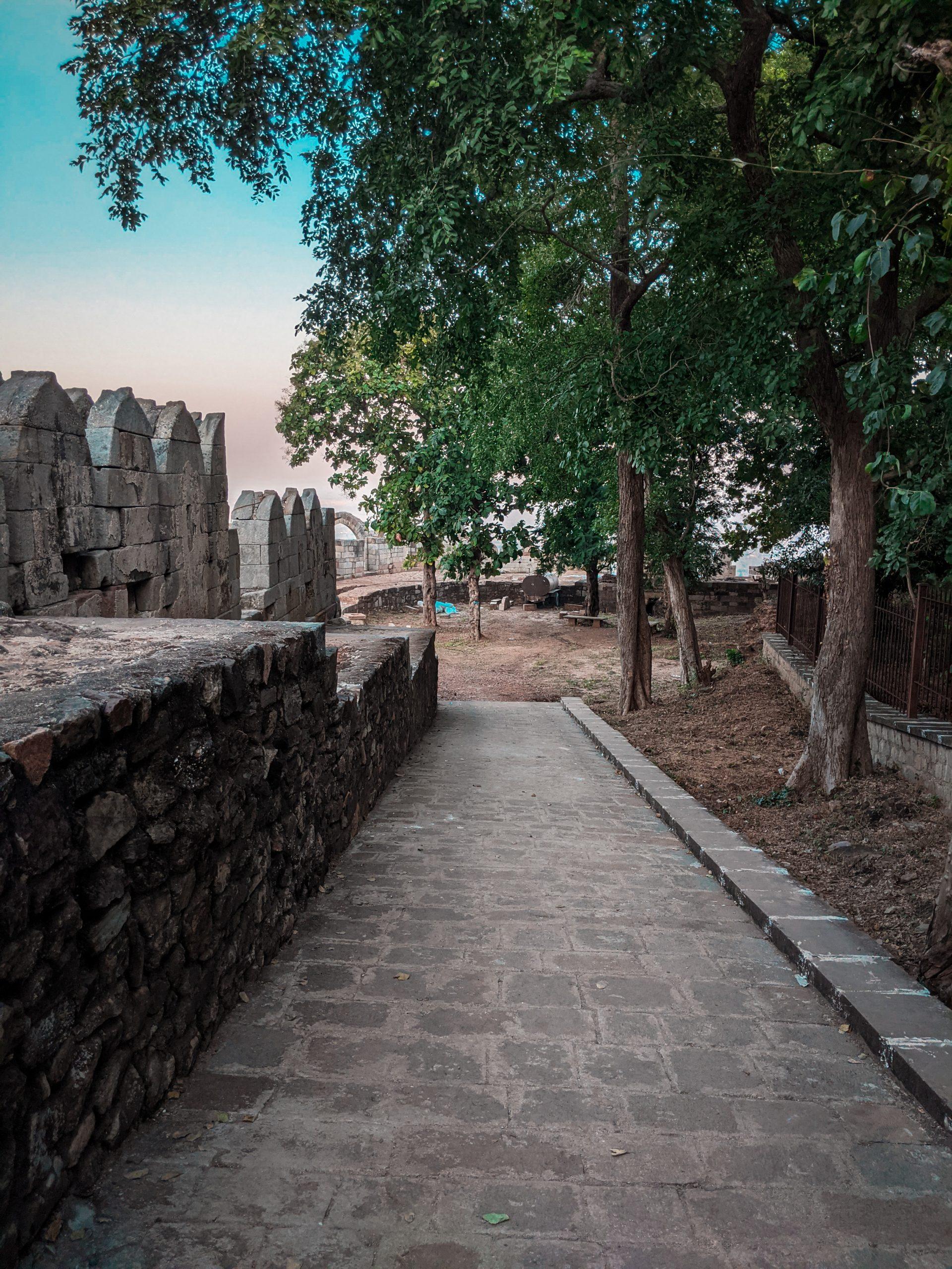 A walkway in Champaner, Pavagadh