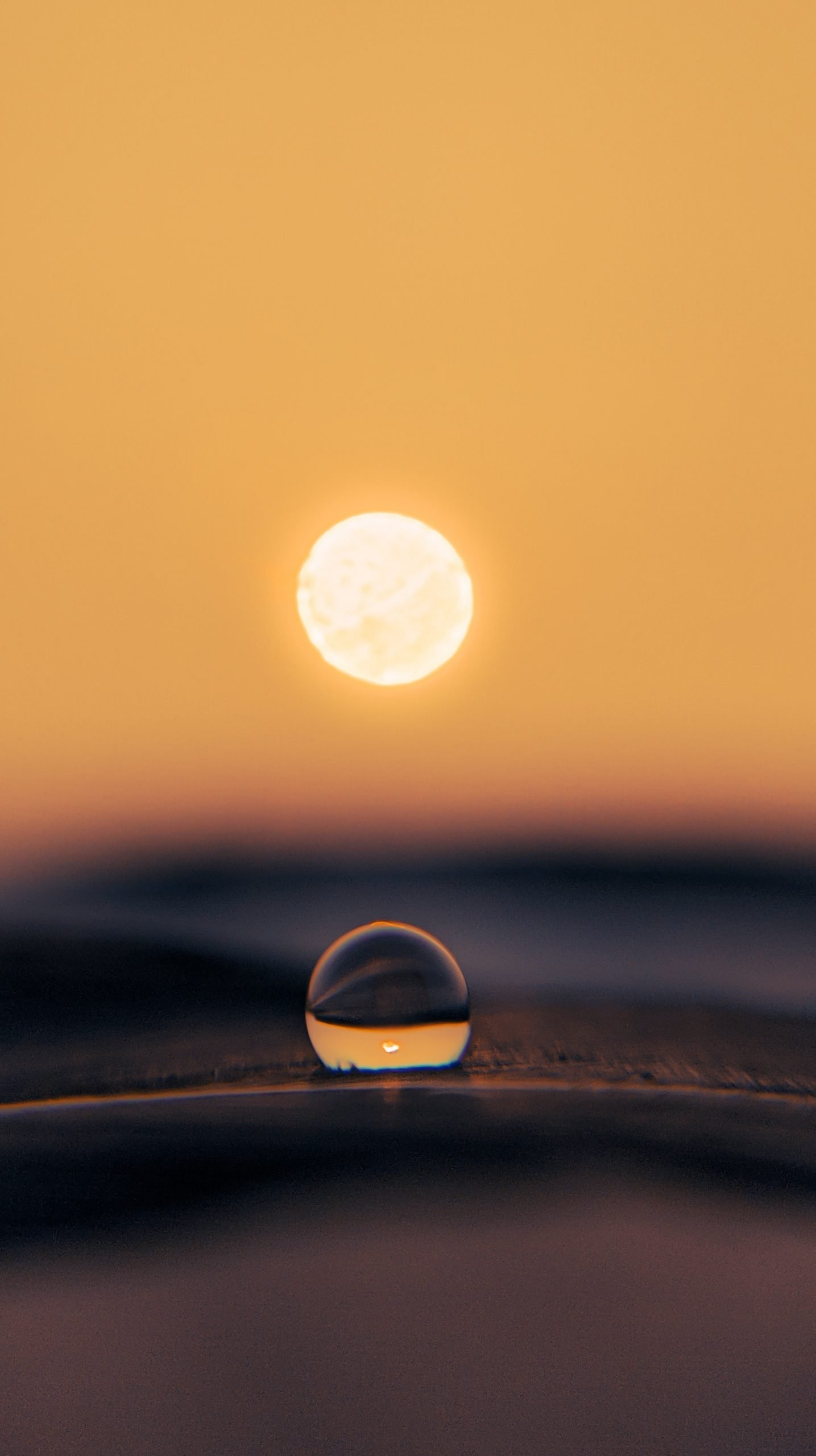A water drop and sun