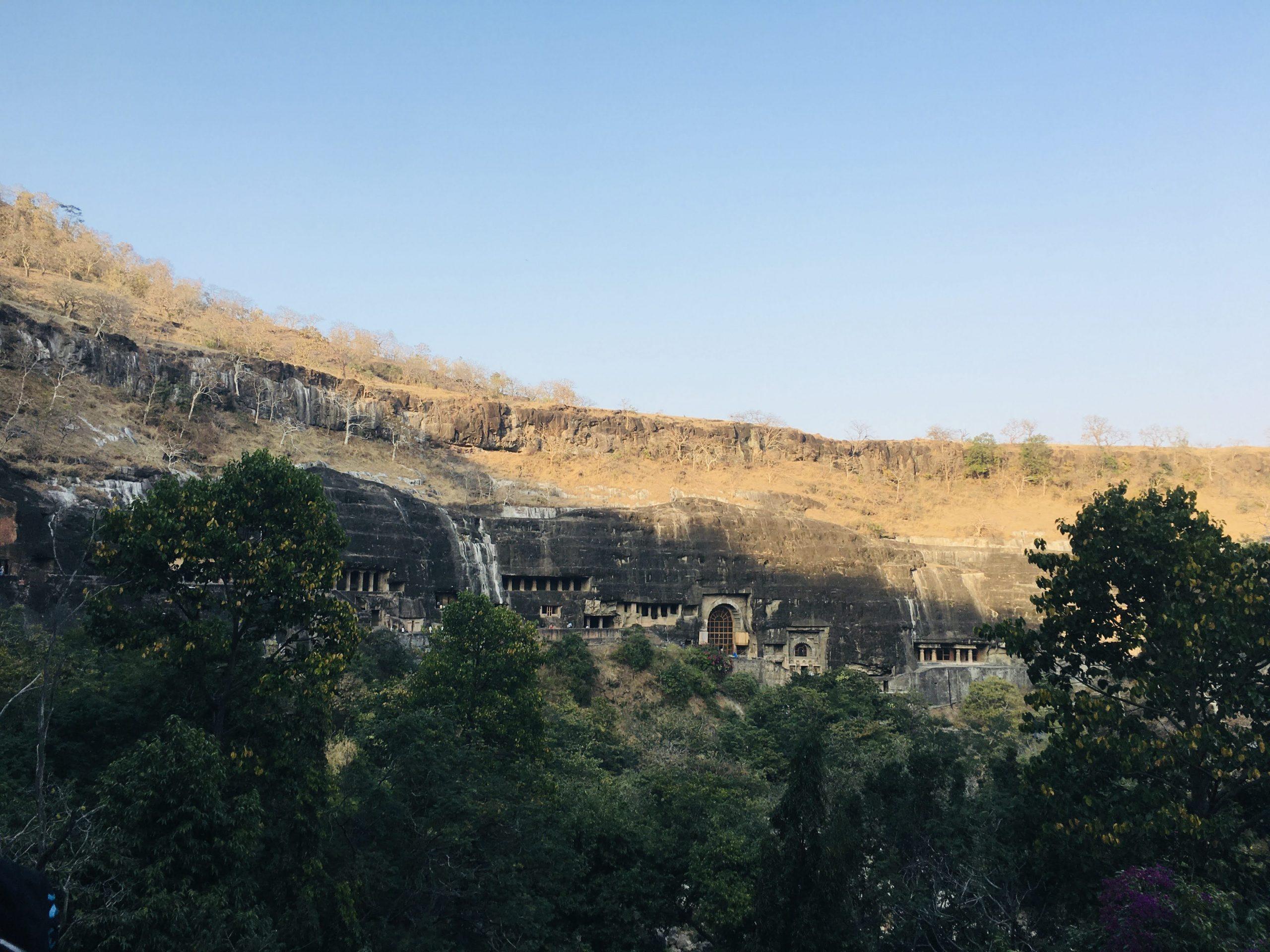 Ajanta caves hill
