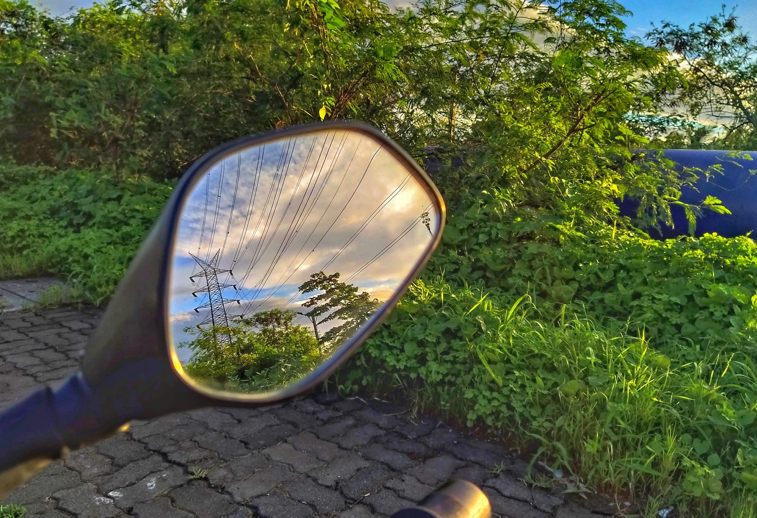 Back mirror of a bike