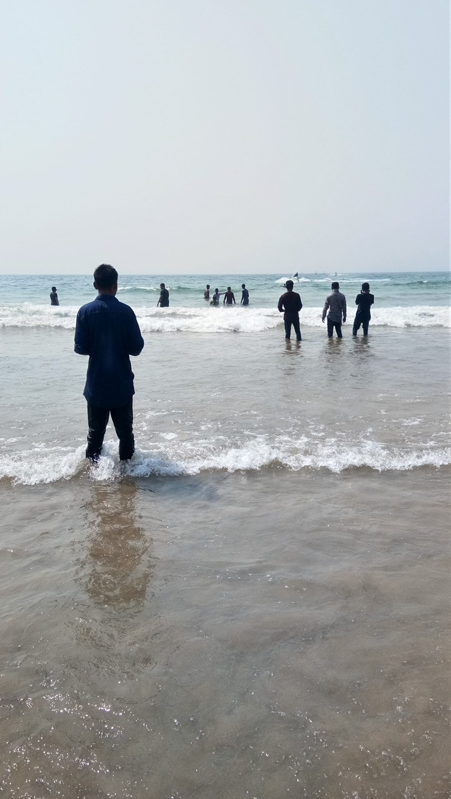 People enjoying at beach