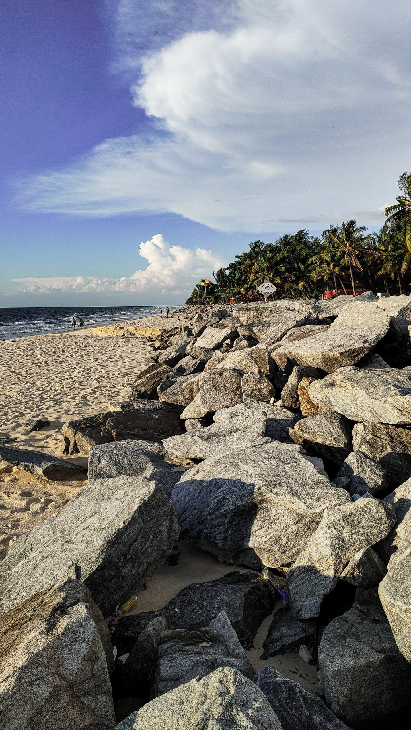 Rock stone at a beach