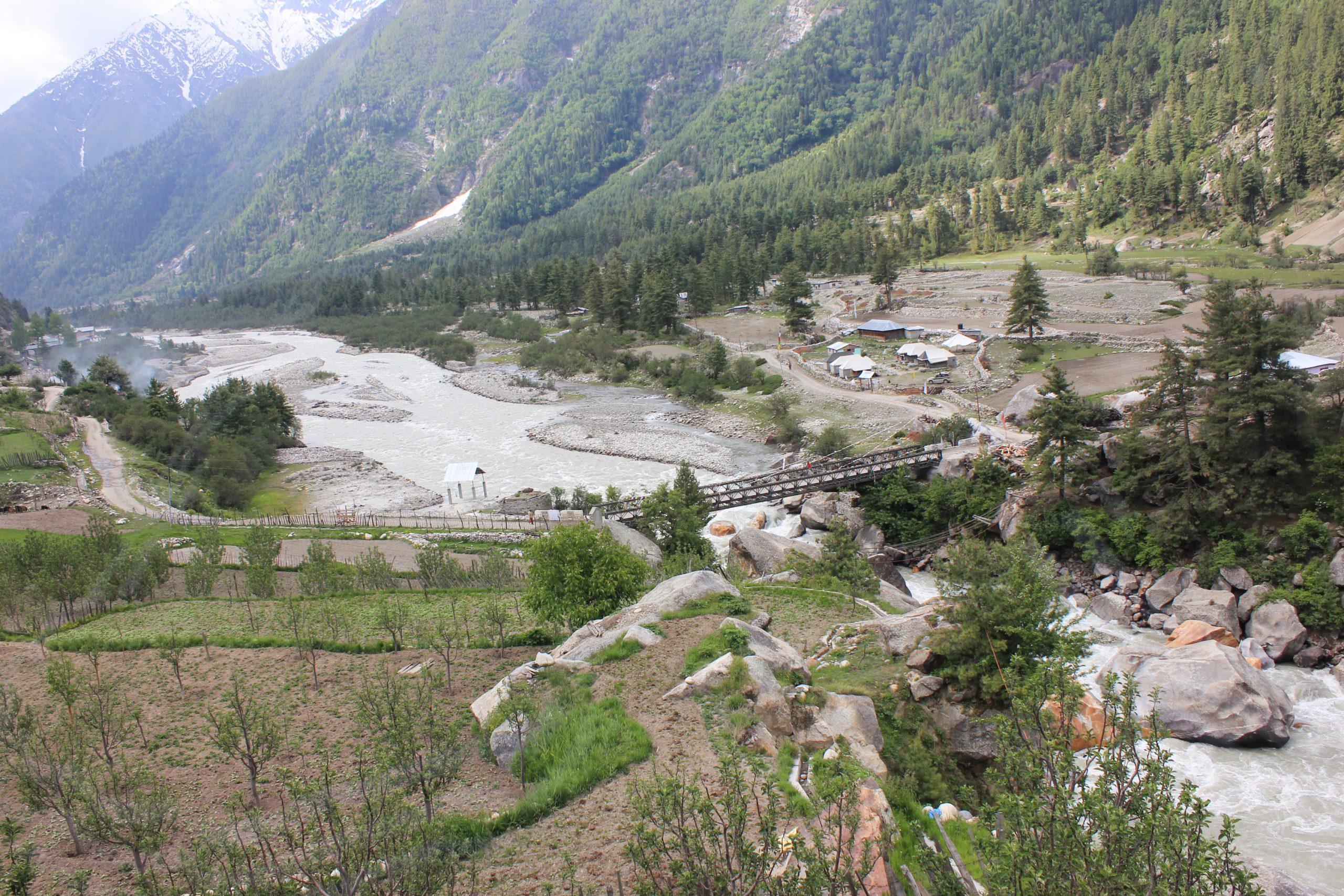 A view of Rakchham village in Sangla valley