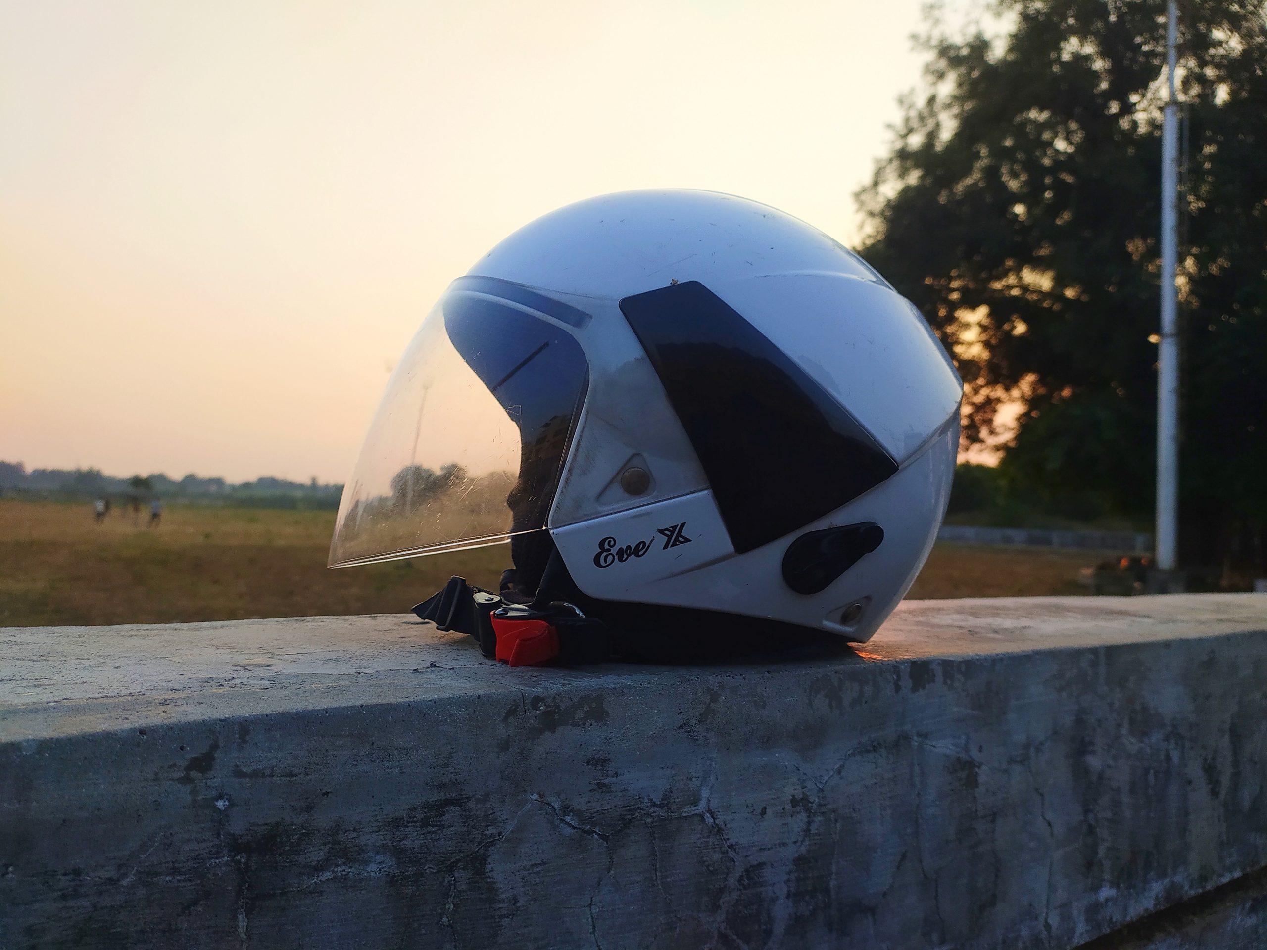 Bike helmet view