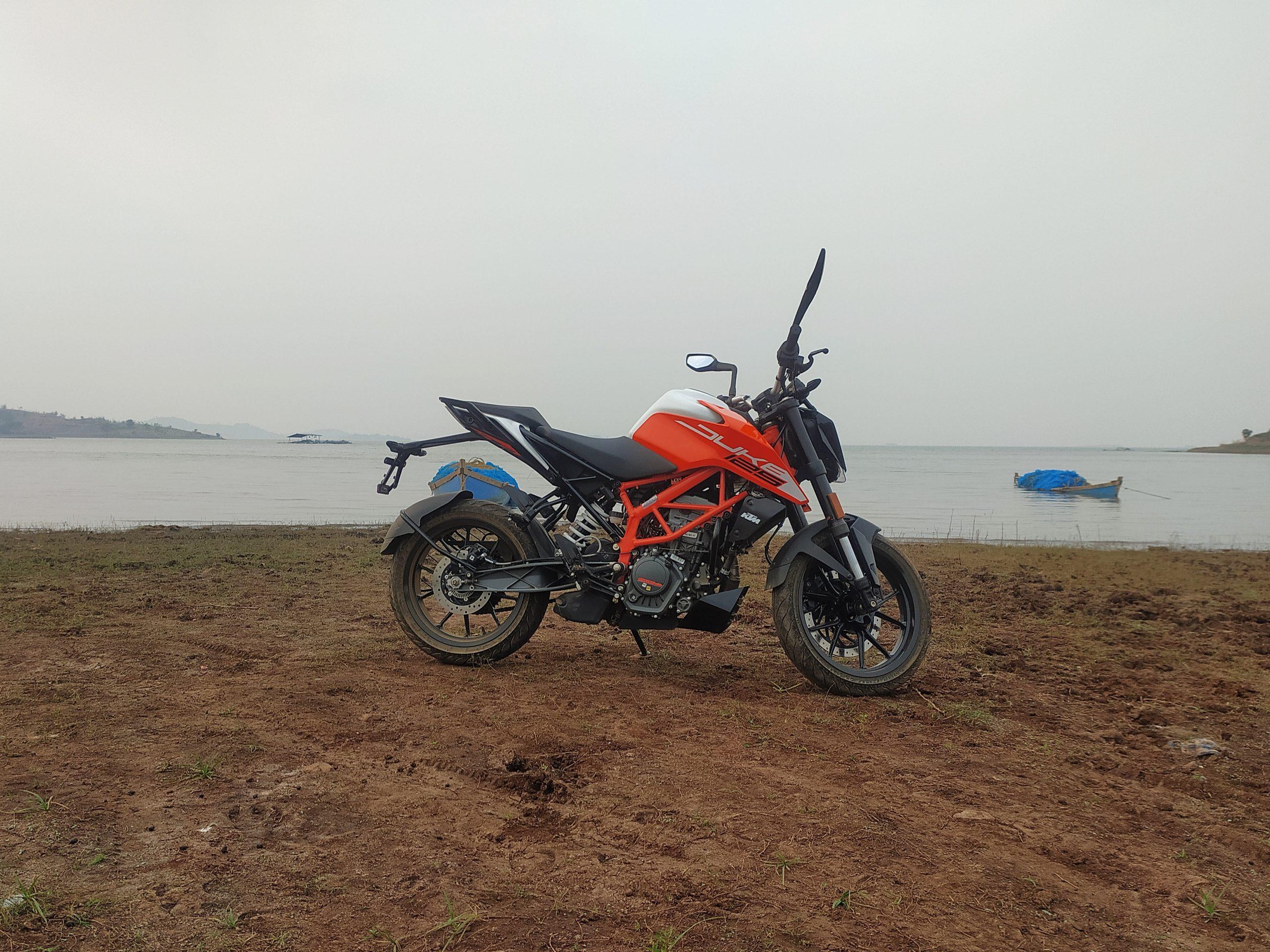 motorbike on the sea side
