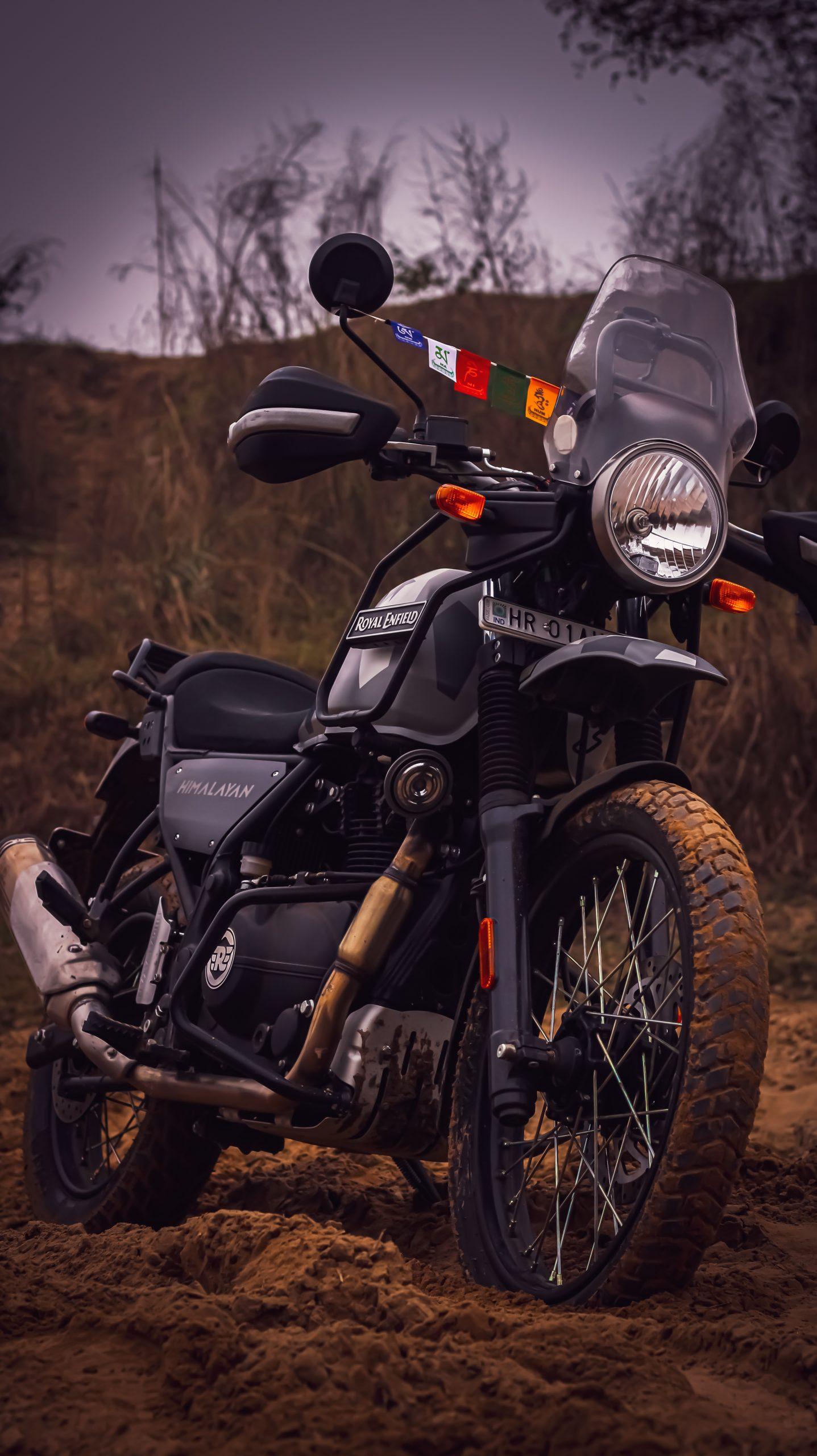 Bike standing in mud