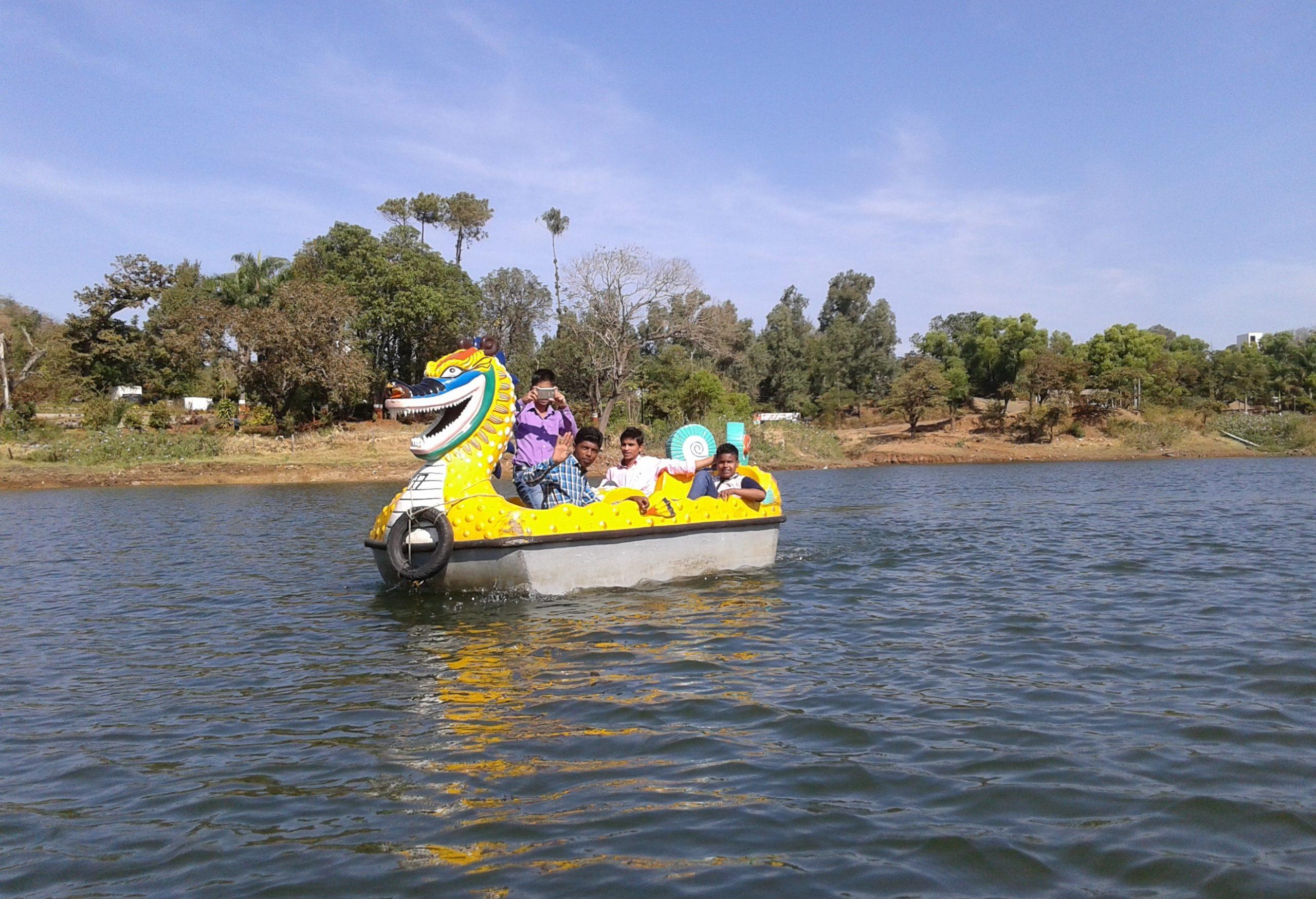 Kids enjoying boating in water