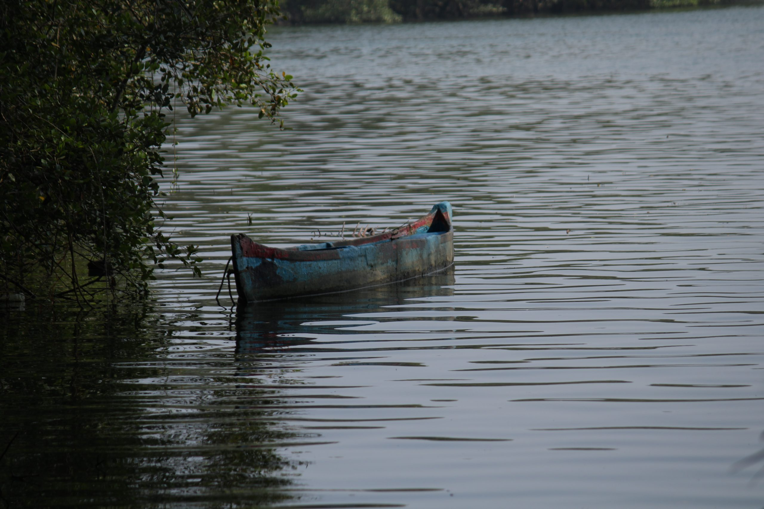 Boat in river