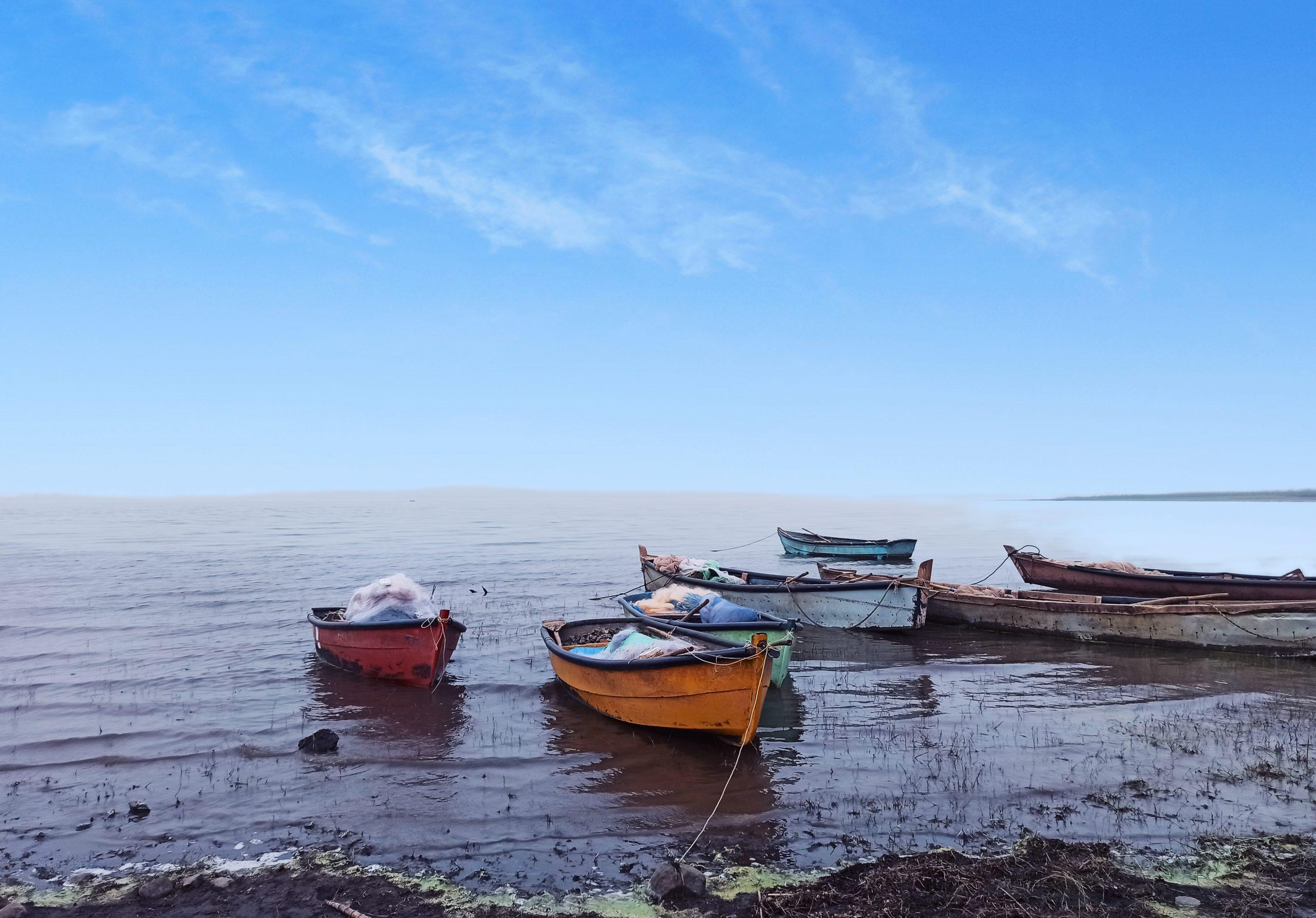 Fishing boat at seashore