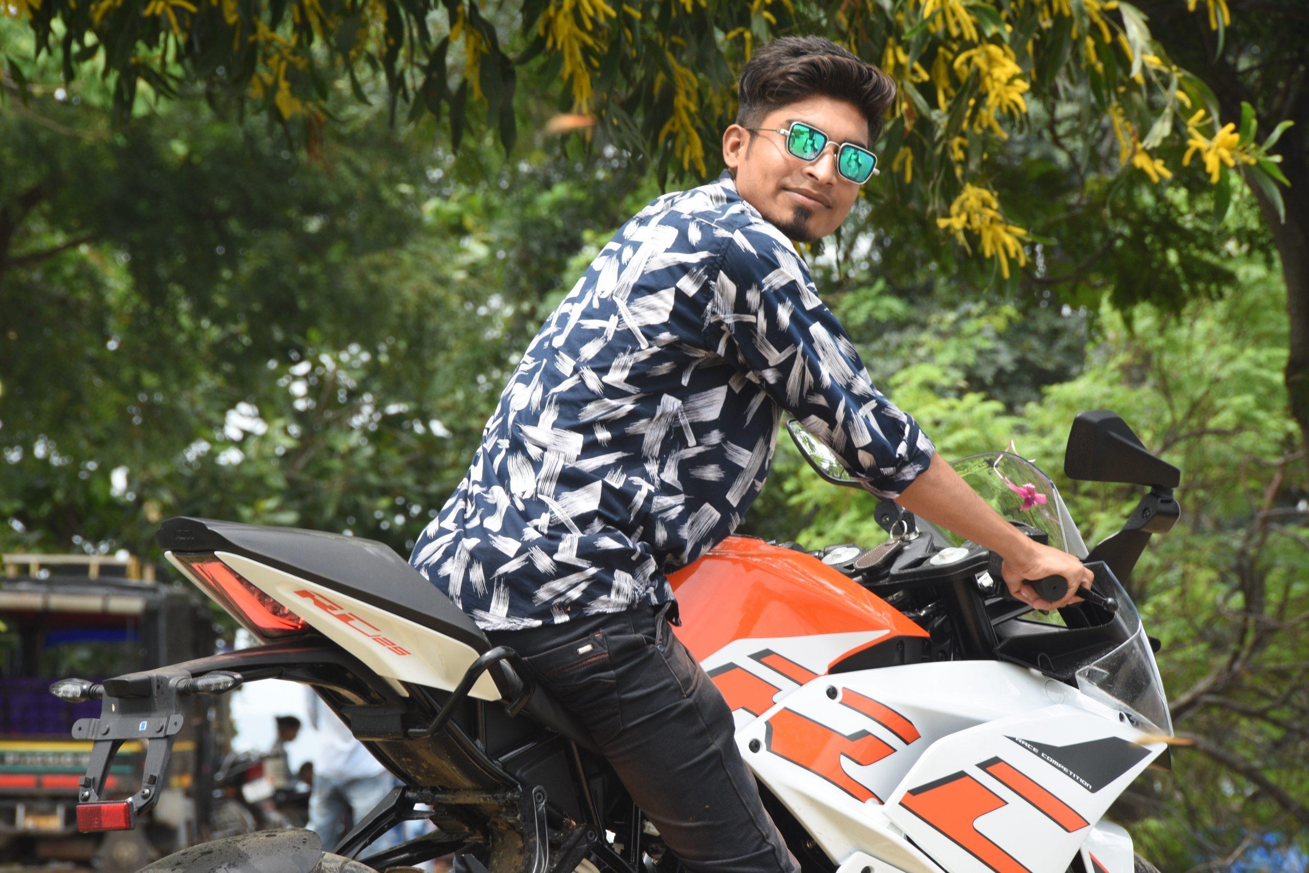 Boy on KTM bike