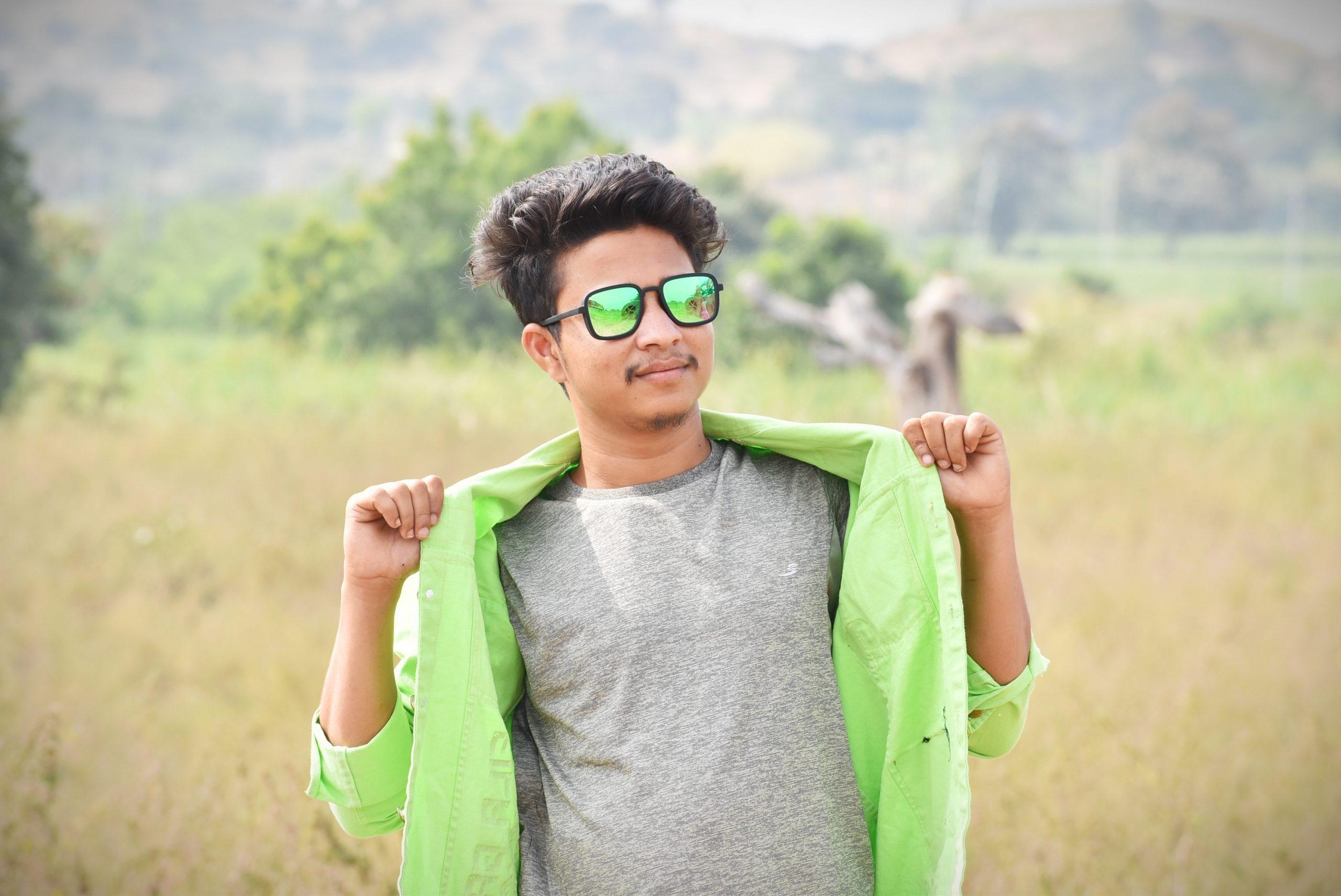 Boy posing in farm