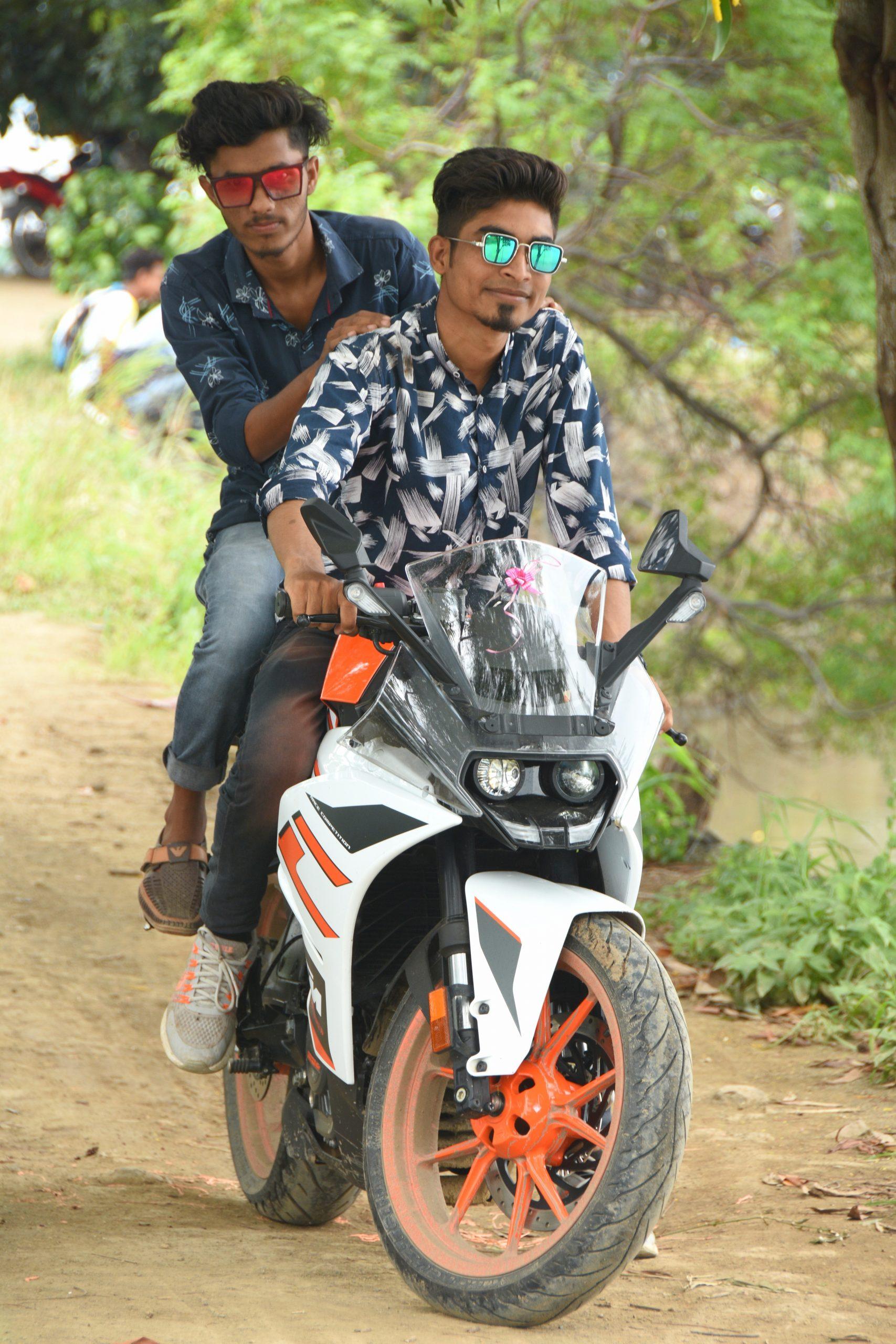 Boys on KTM bike