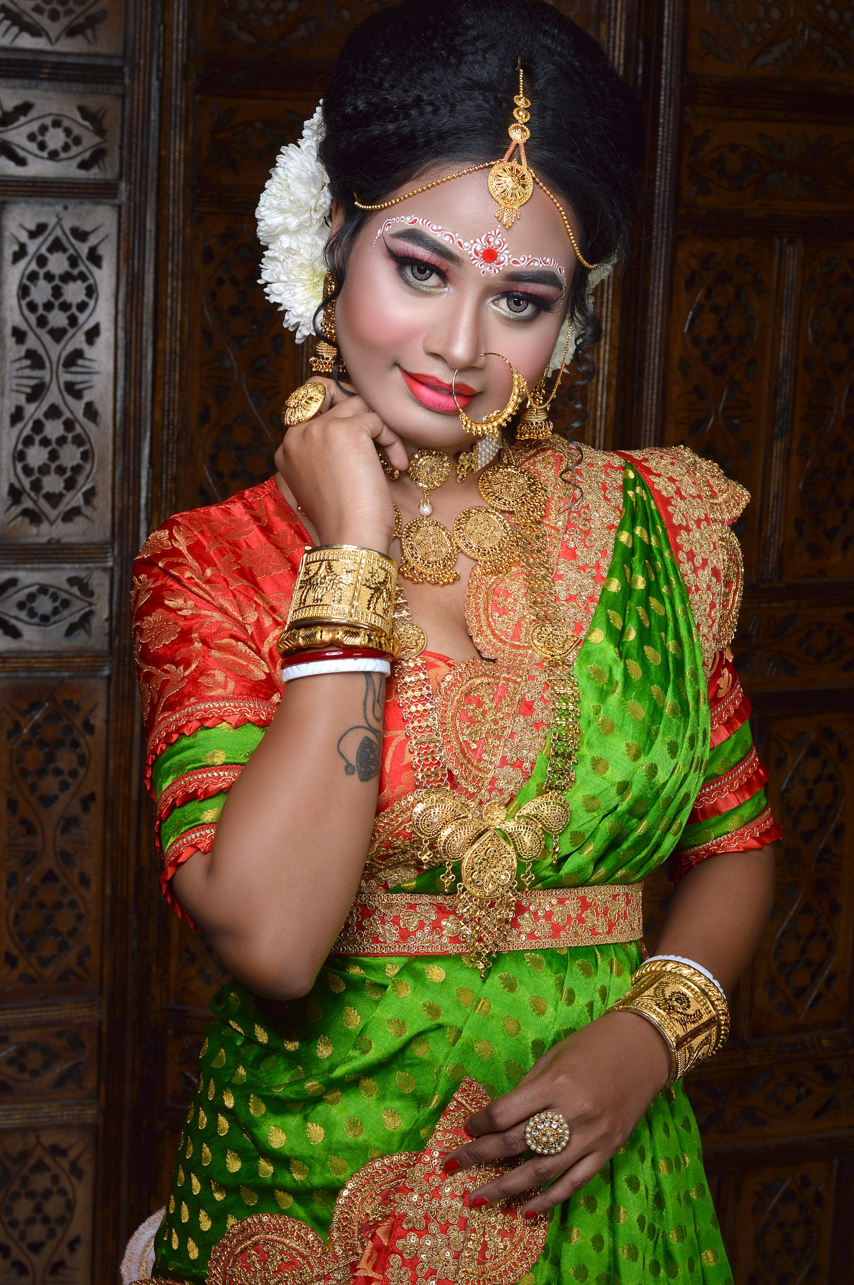 Bride with full makeup