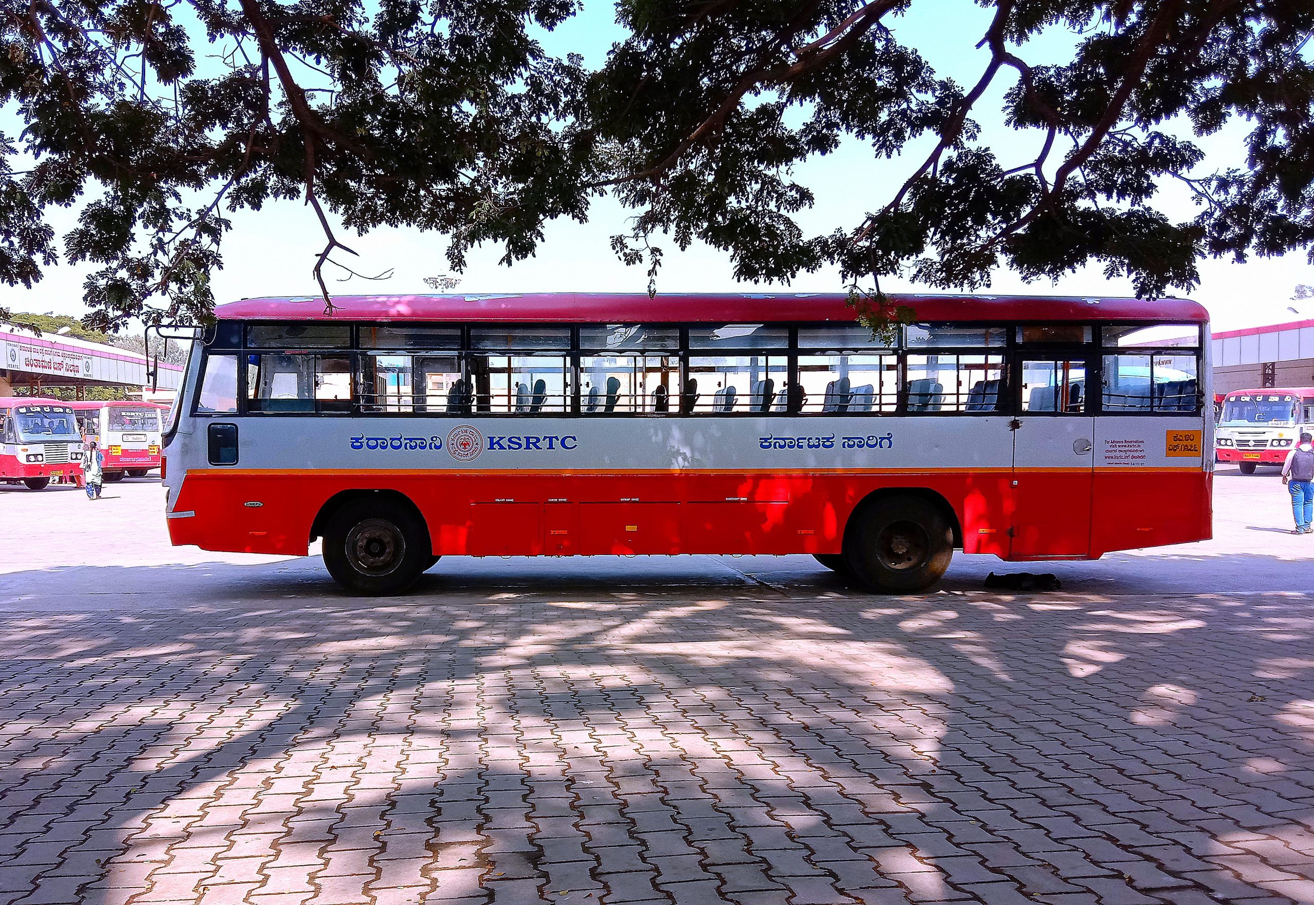 Bus standing in Bus station