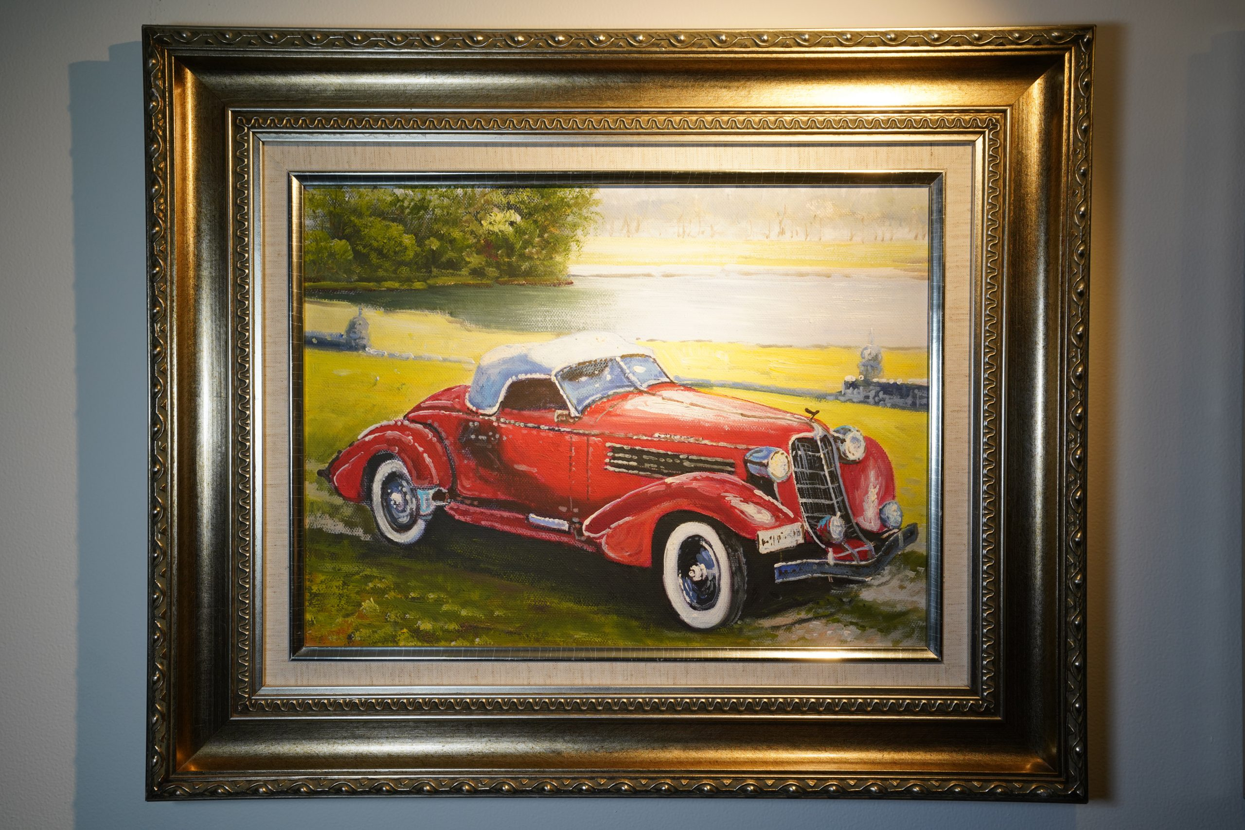 Car painting frame