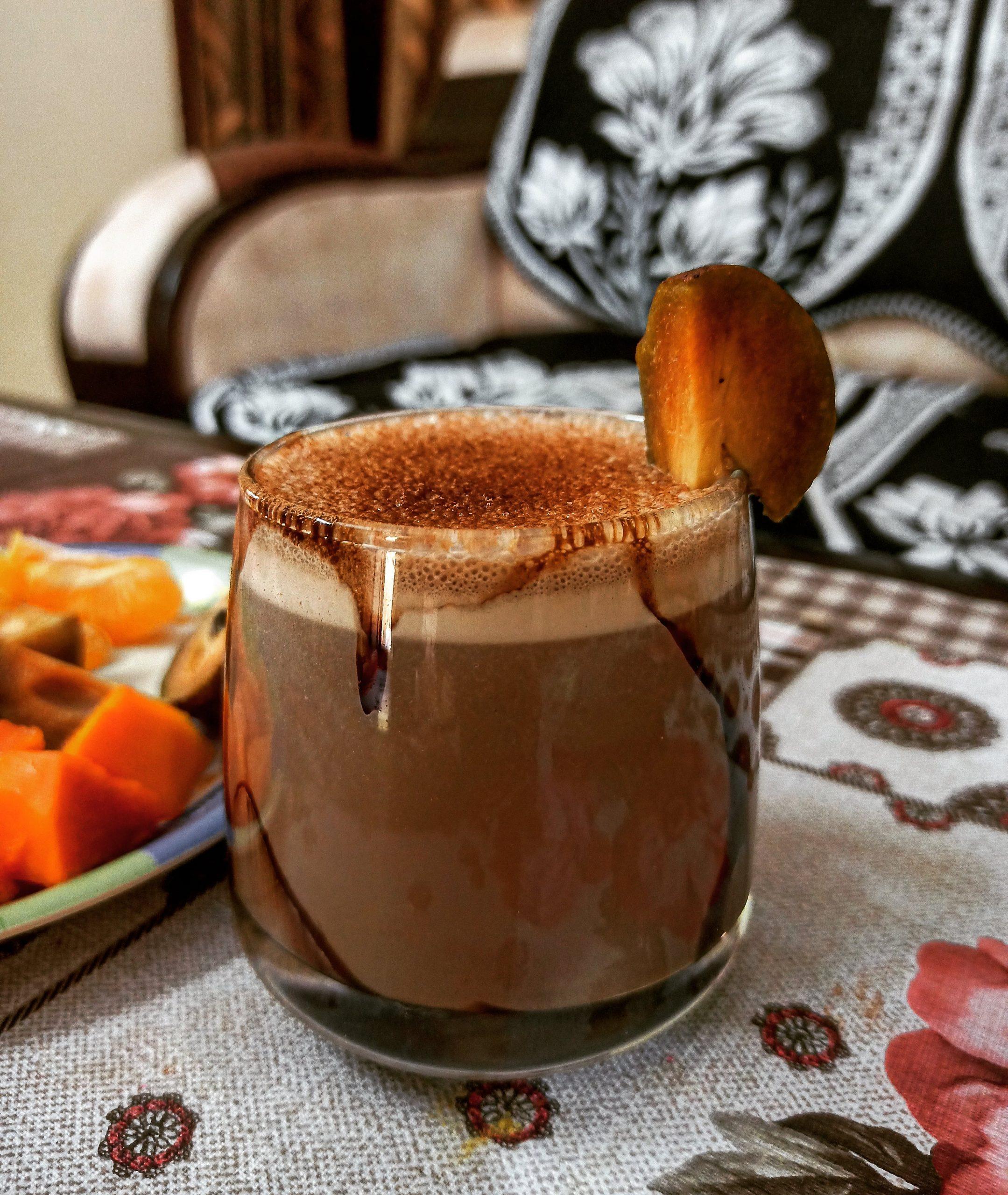 Chikoo chocolate milkshake