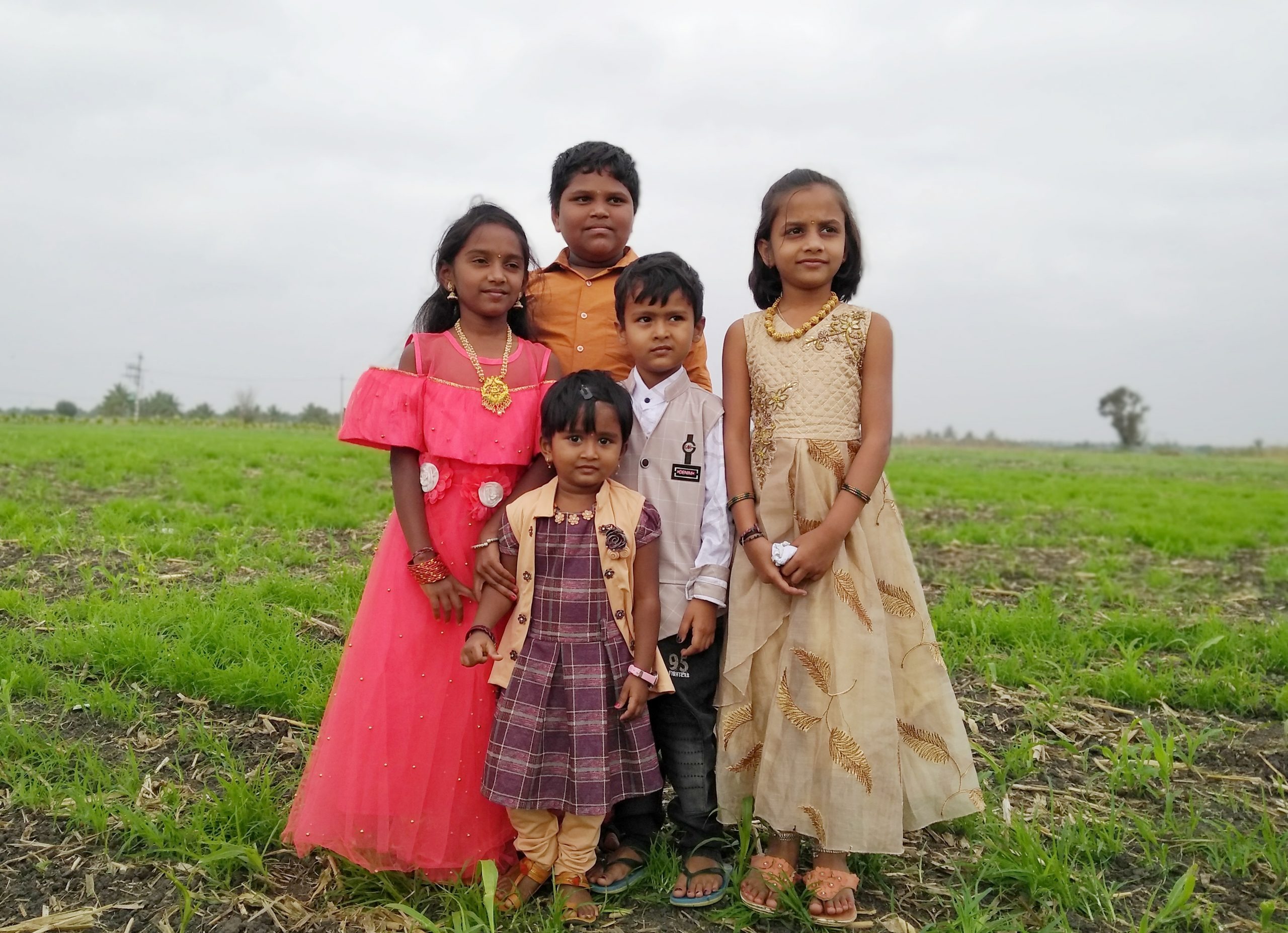 Children ready for a function