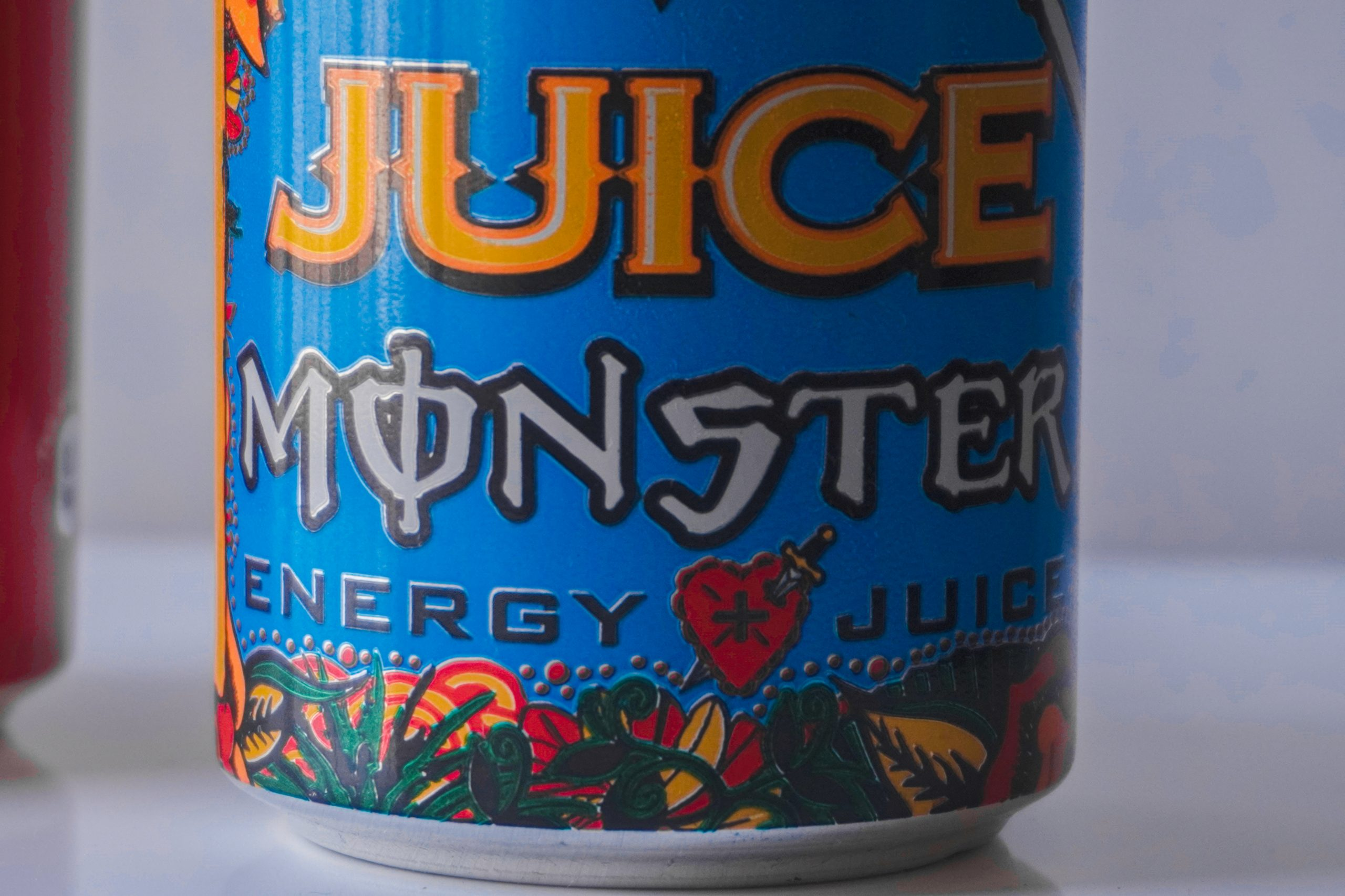 Close up of Monster Can