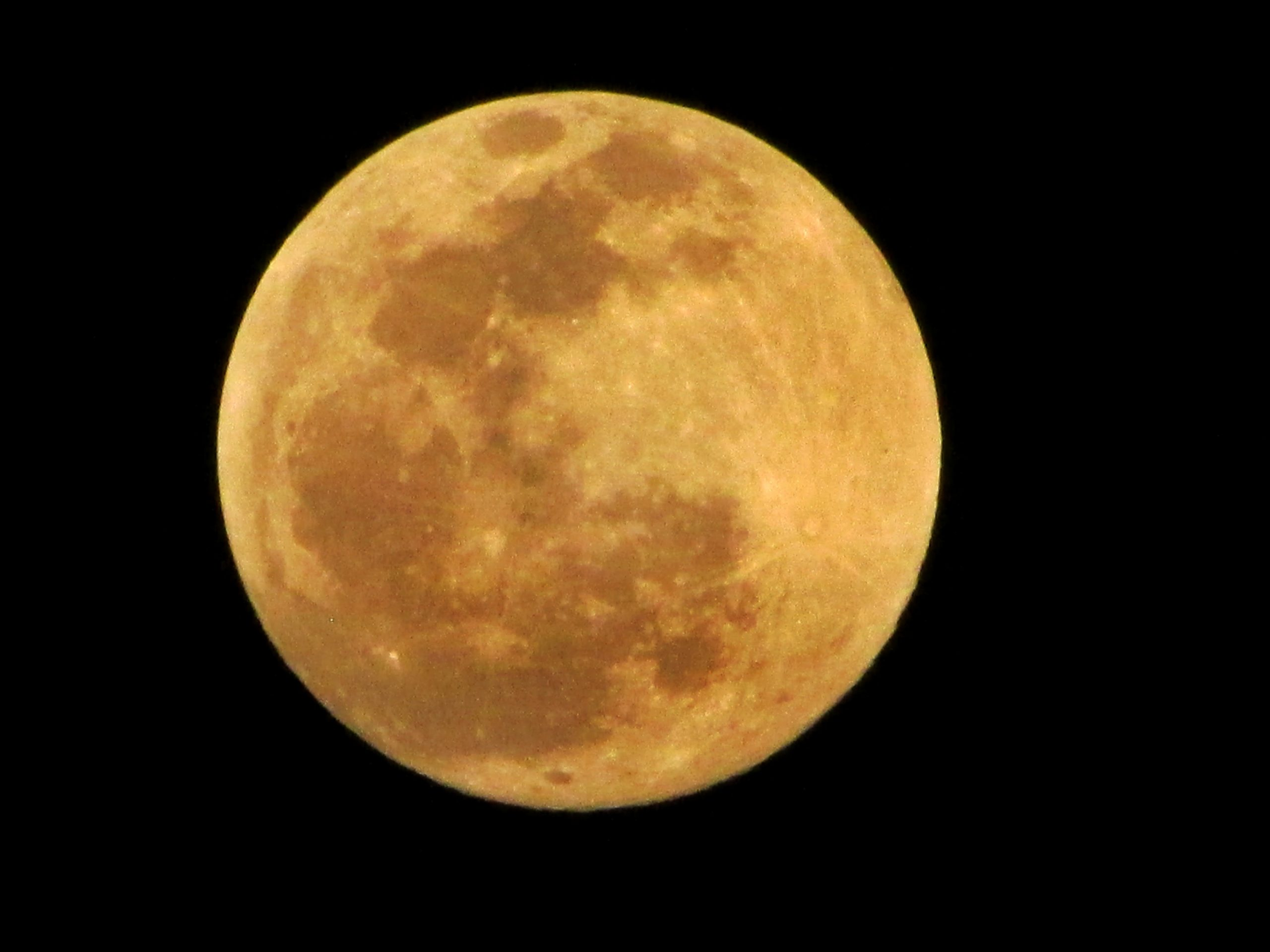 Close up of full moon