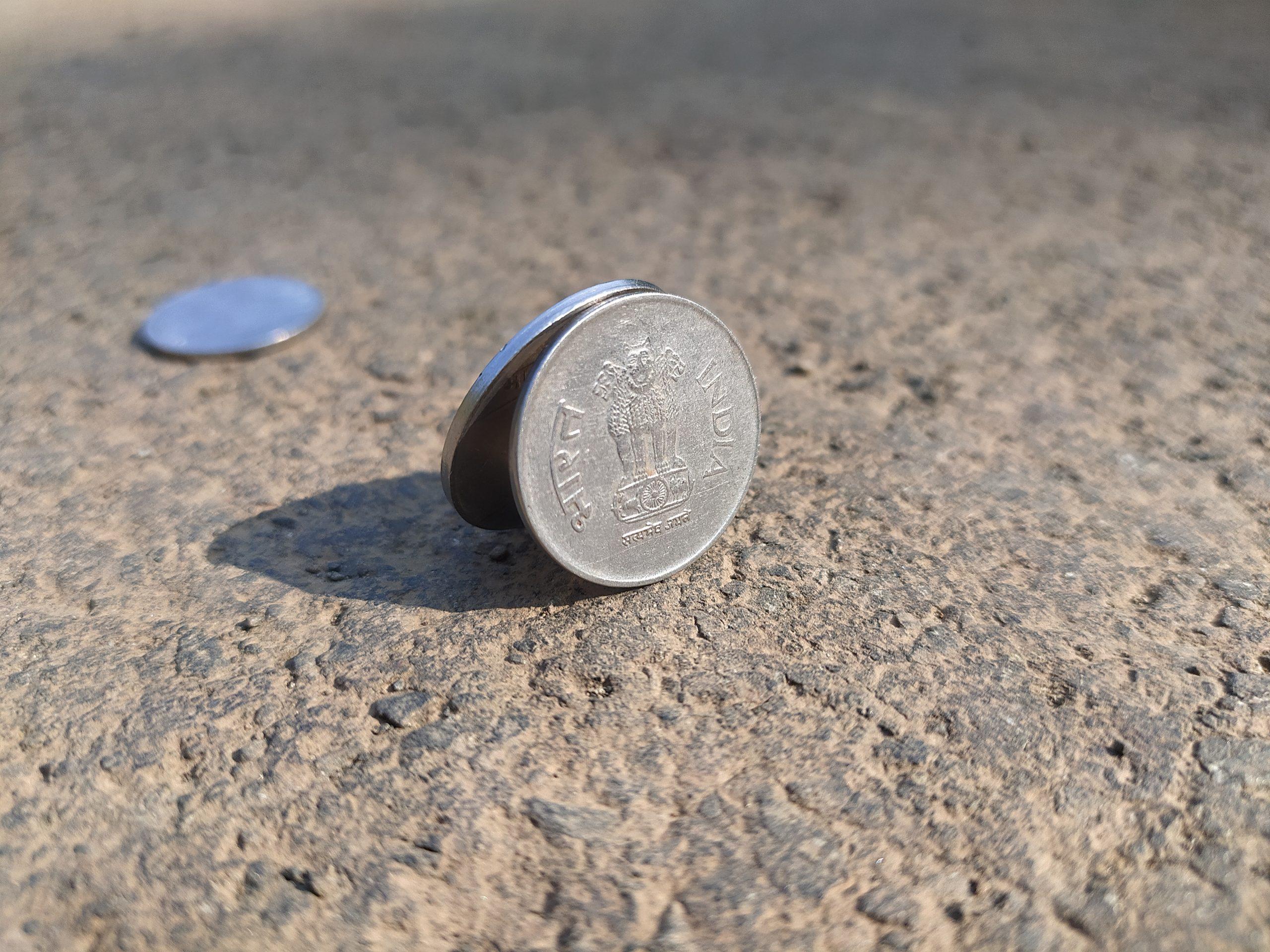Coins on ground