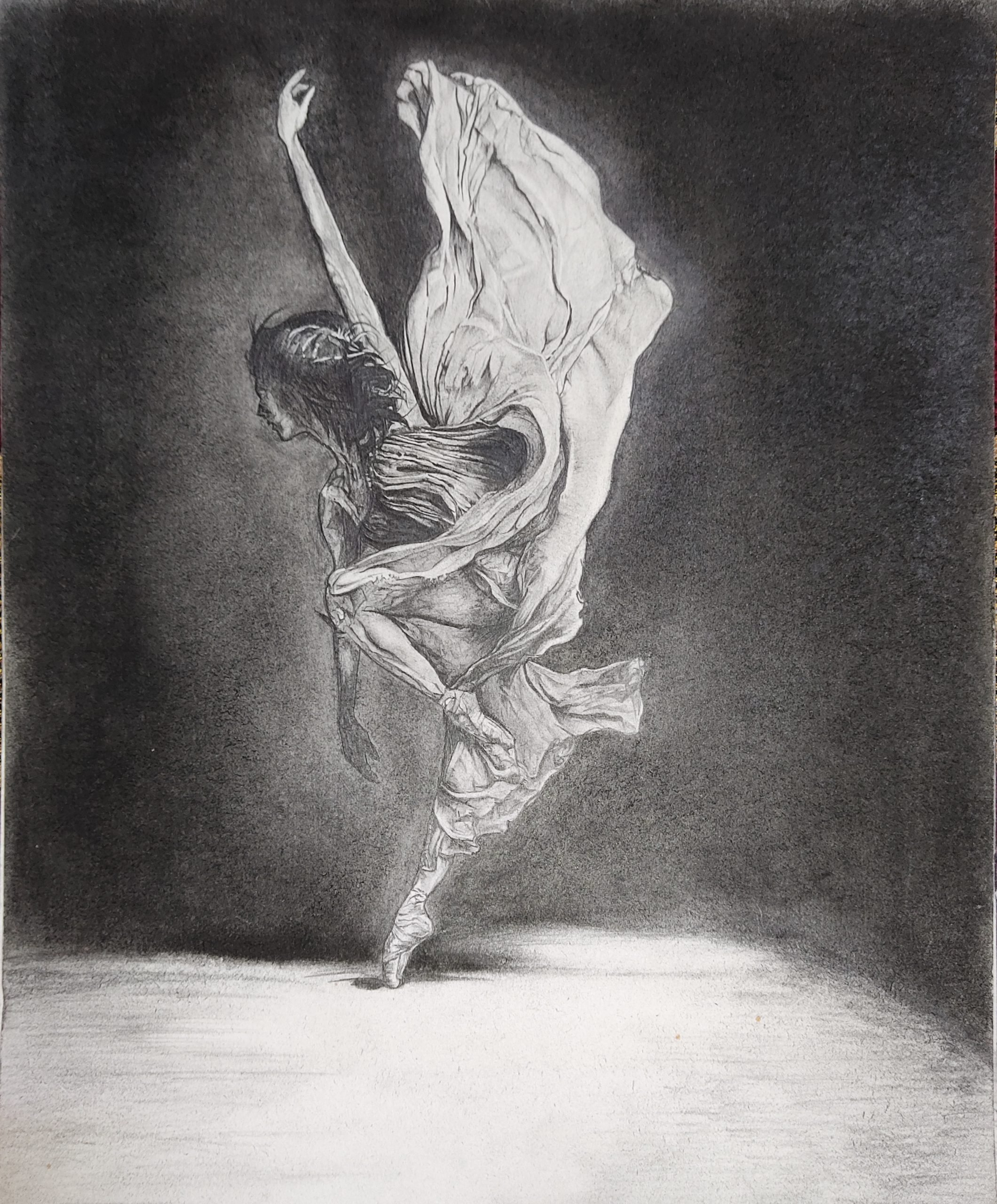 Monochrome poster of a women dancing
