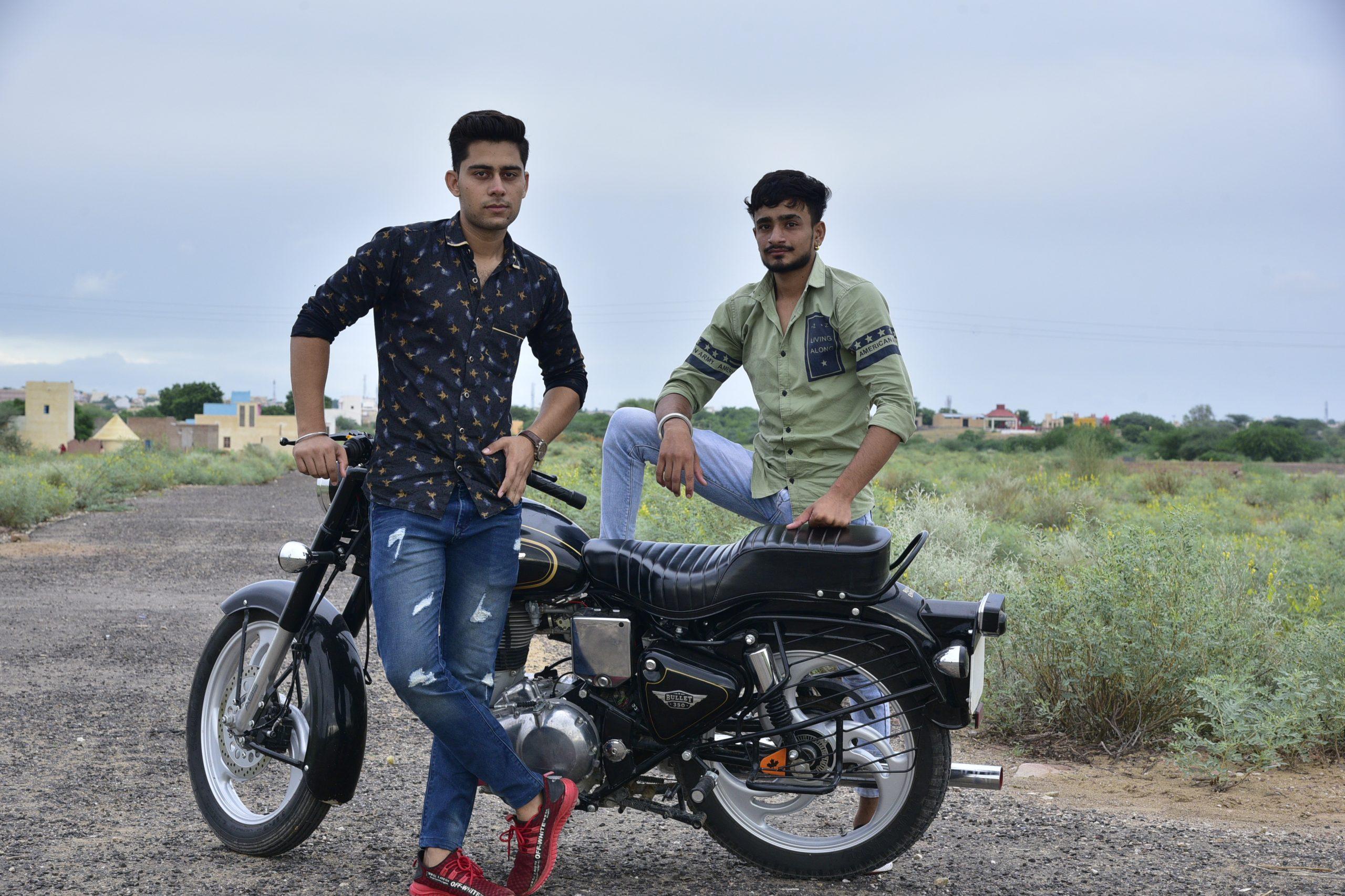 Boys with a bike