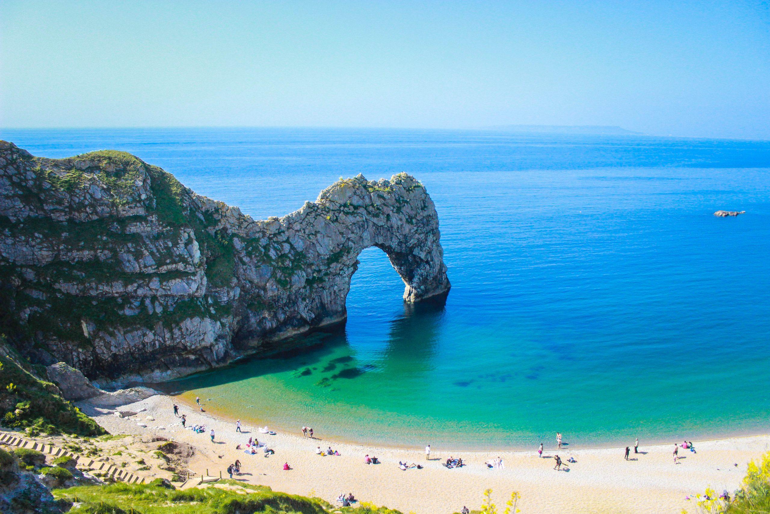 Durdle door beach in England