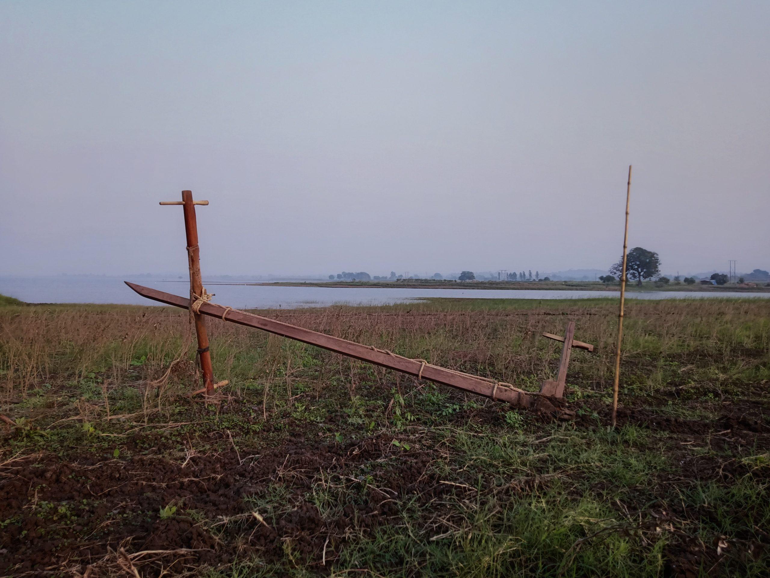 Farming equipment in the farm