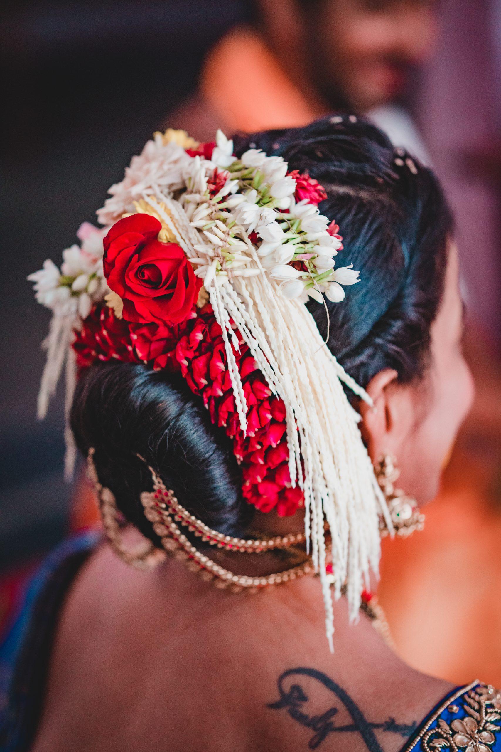 Flower on head of a girl