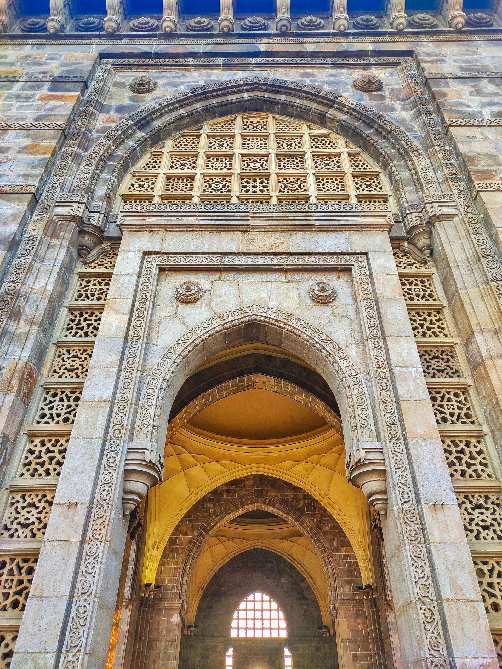 Close up of Gateway of India in Mumbai