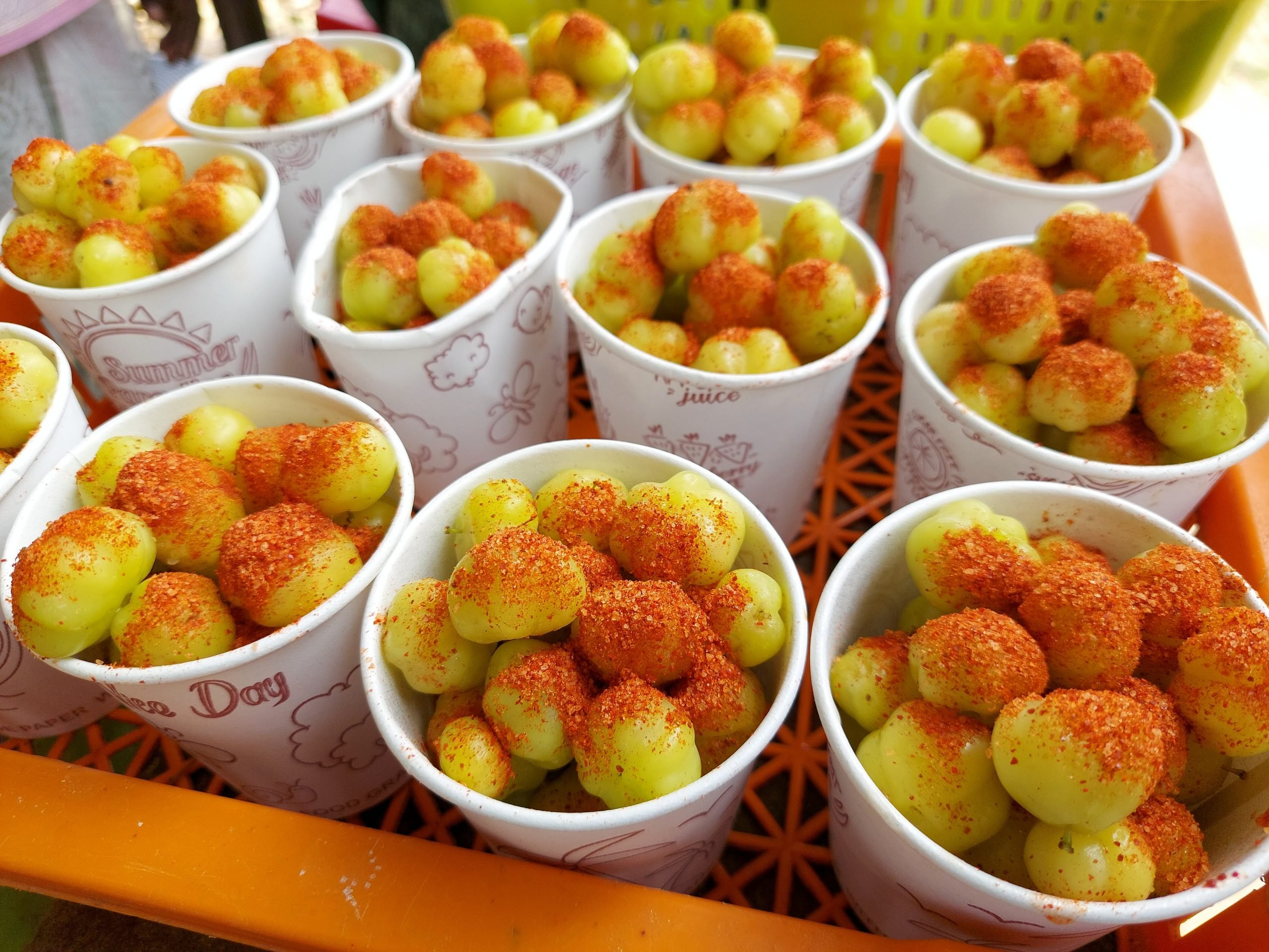 Gooseberry snack in paper cups for sale