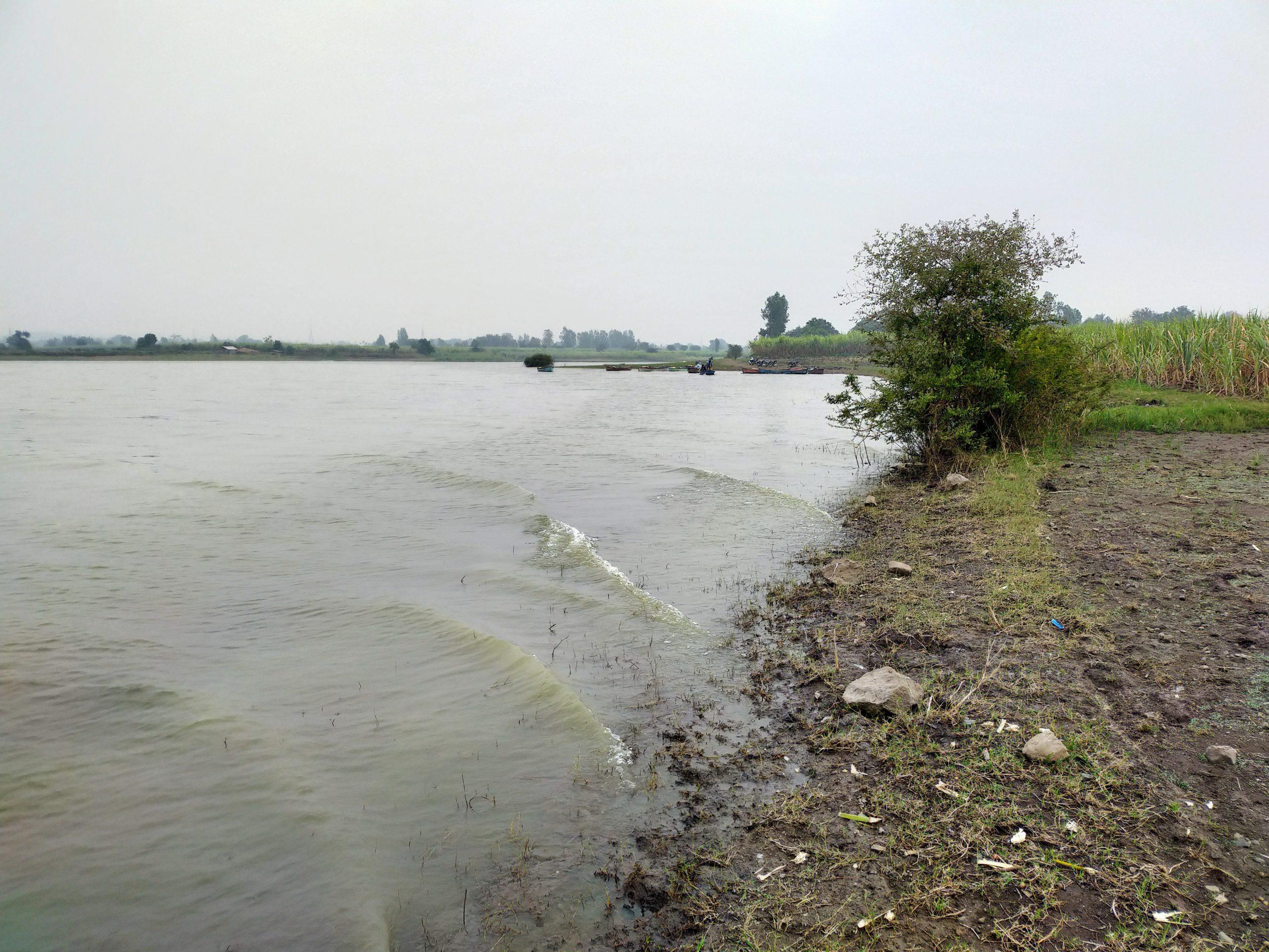 River view near farm