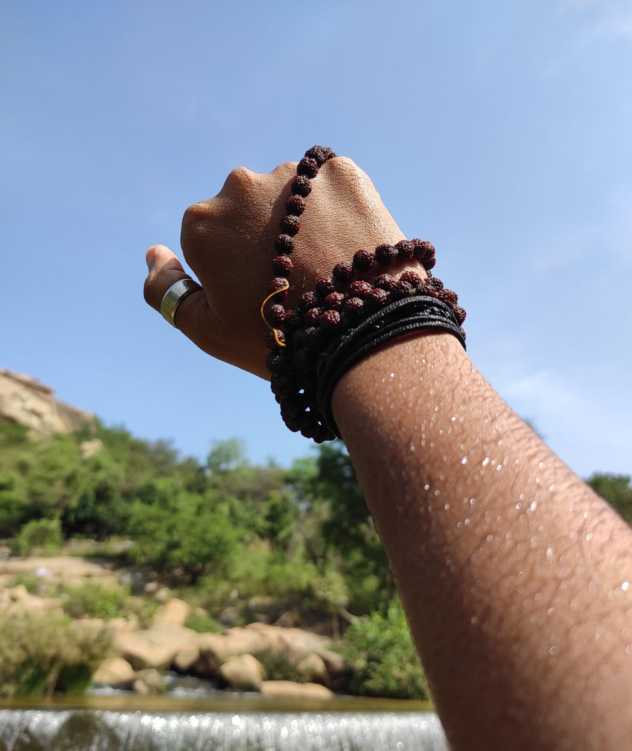 Rudrakash in hand