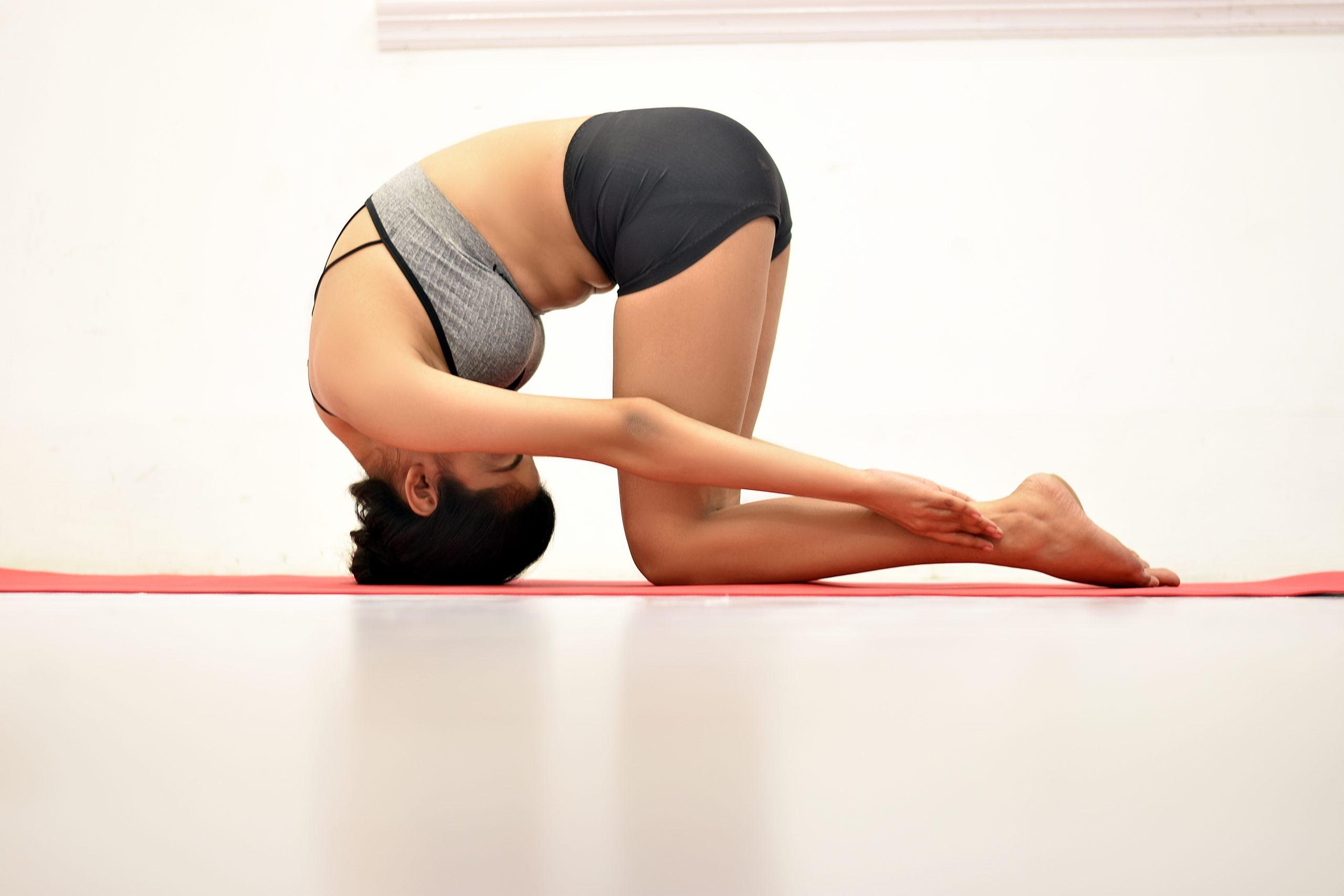 Shashankasana rabbit pose yoga