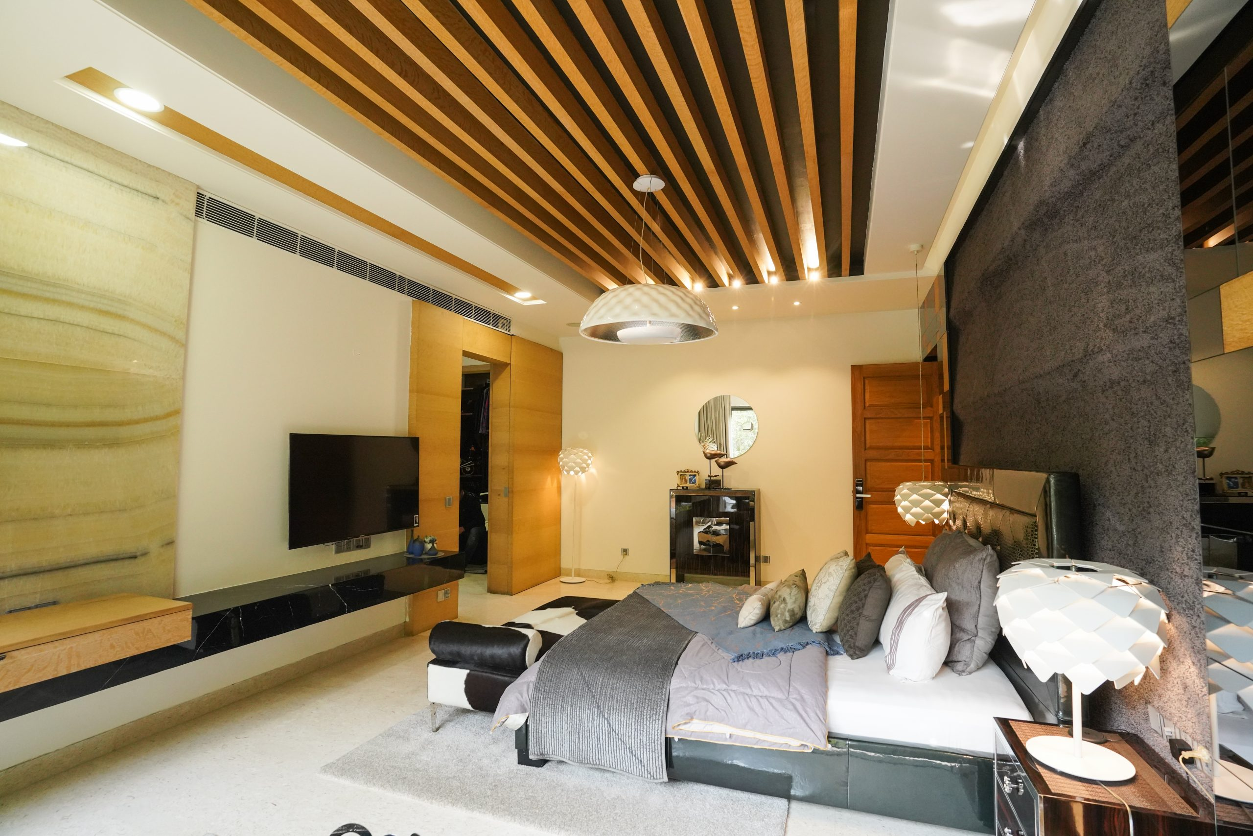Interior designing of a bedroom