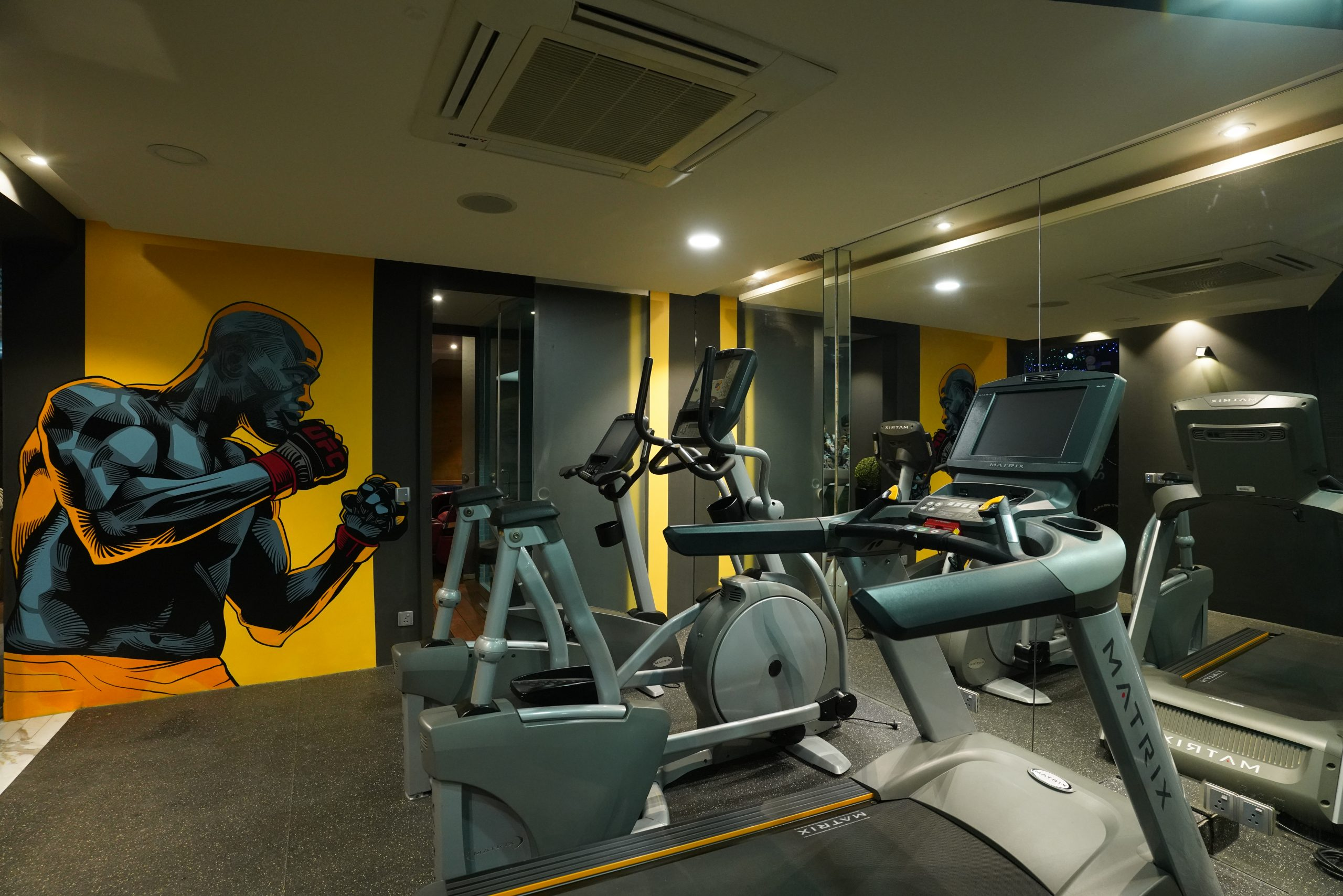 Interior of a gym