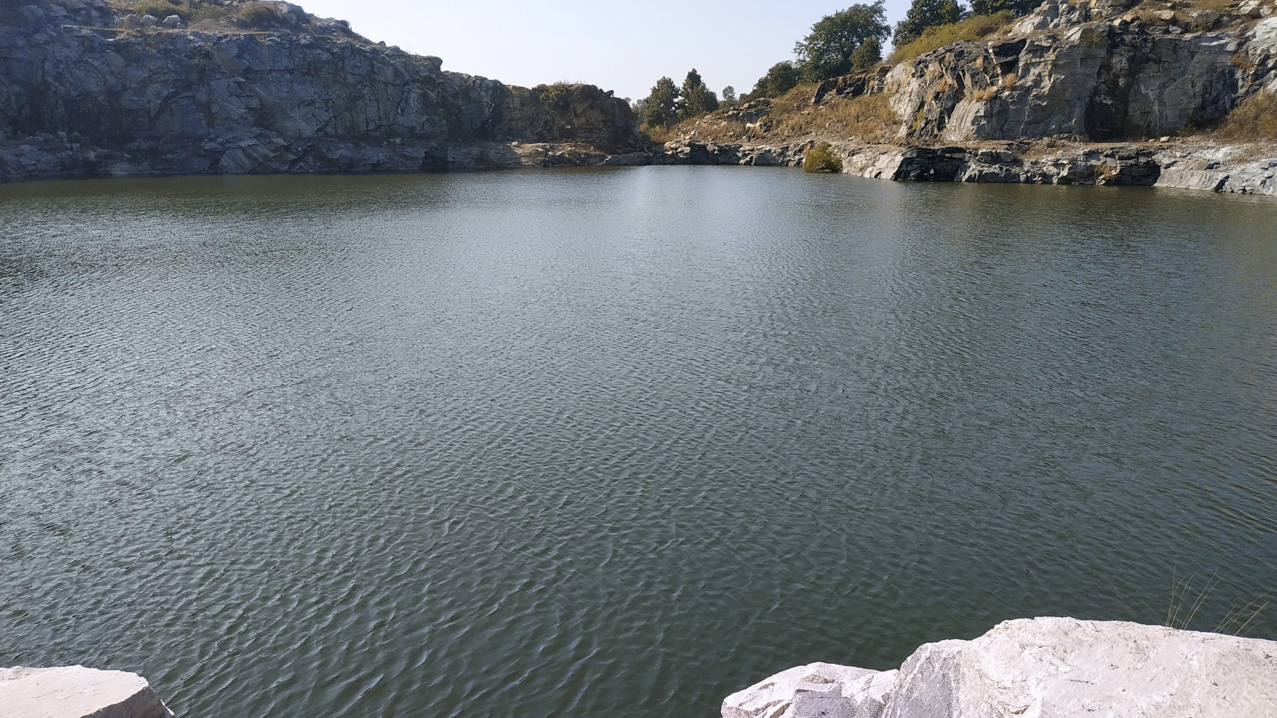 Lime stone lake
