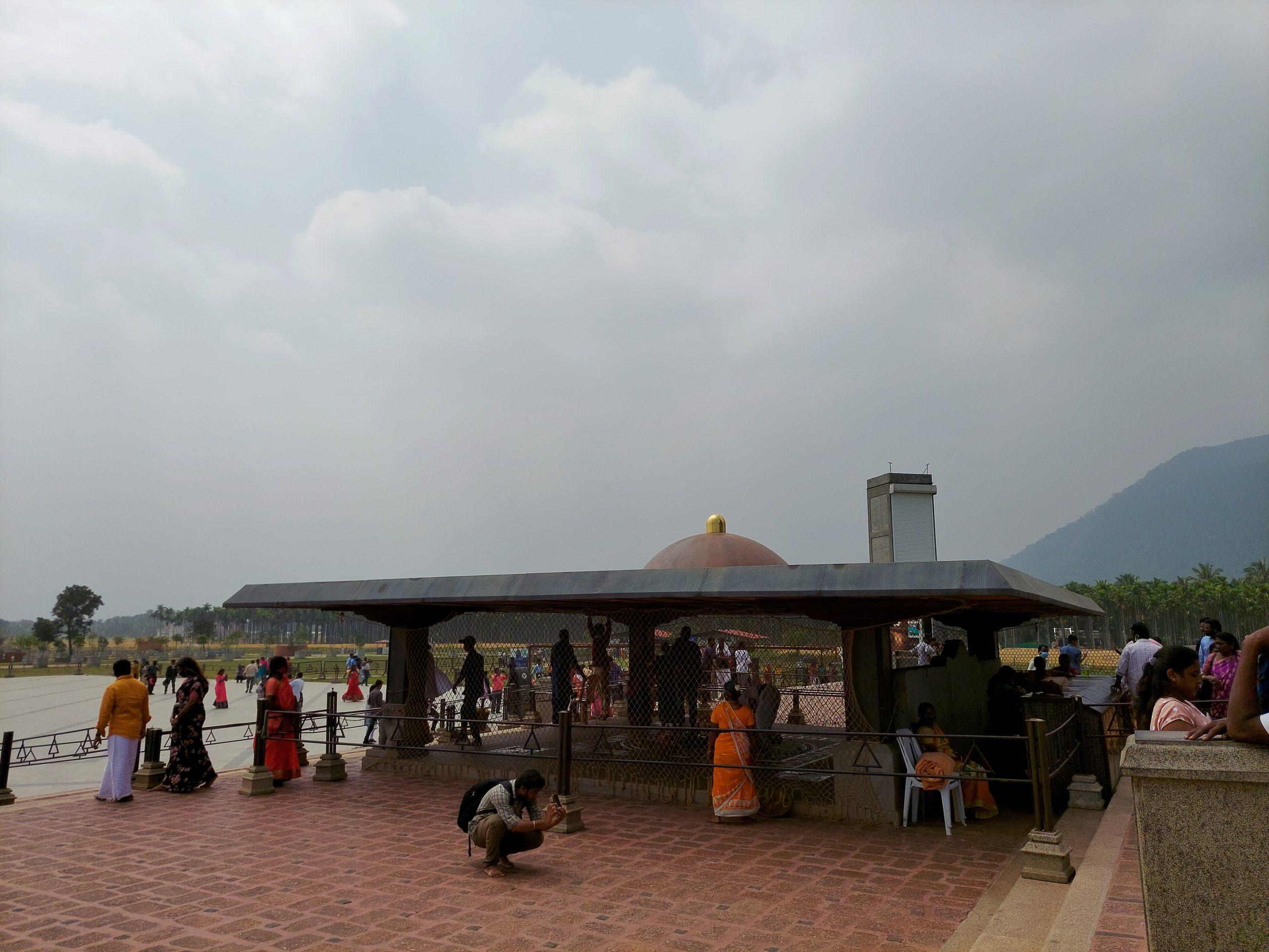 Lingam temple at Adhi yogi statue