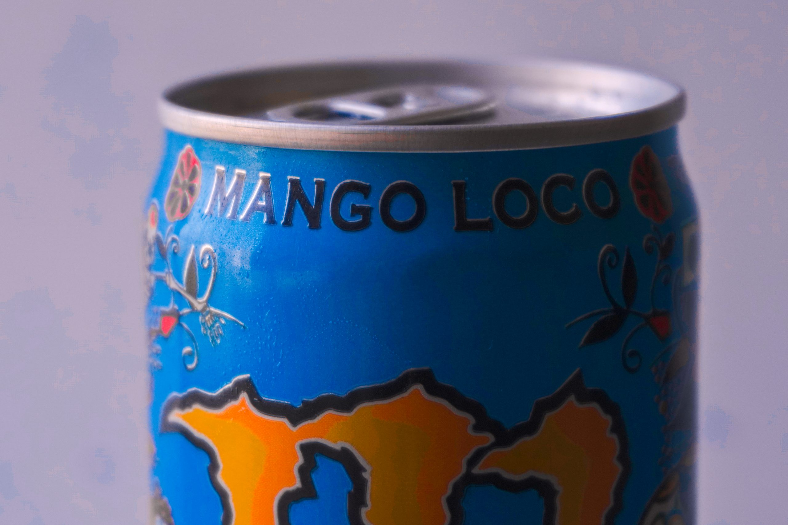 Mango loco soft drink can