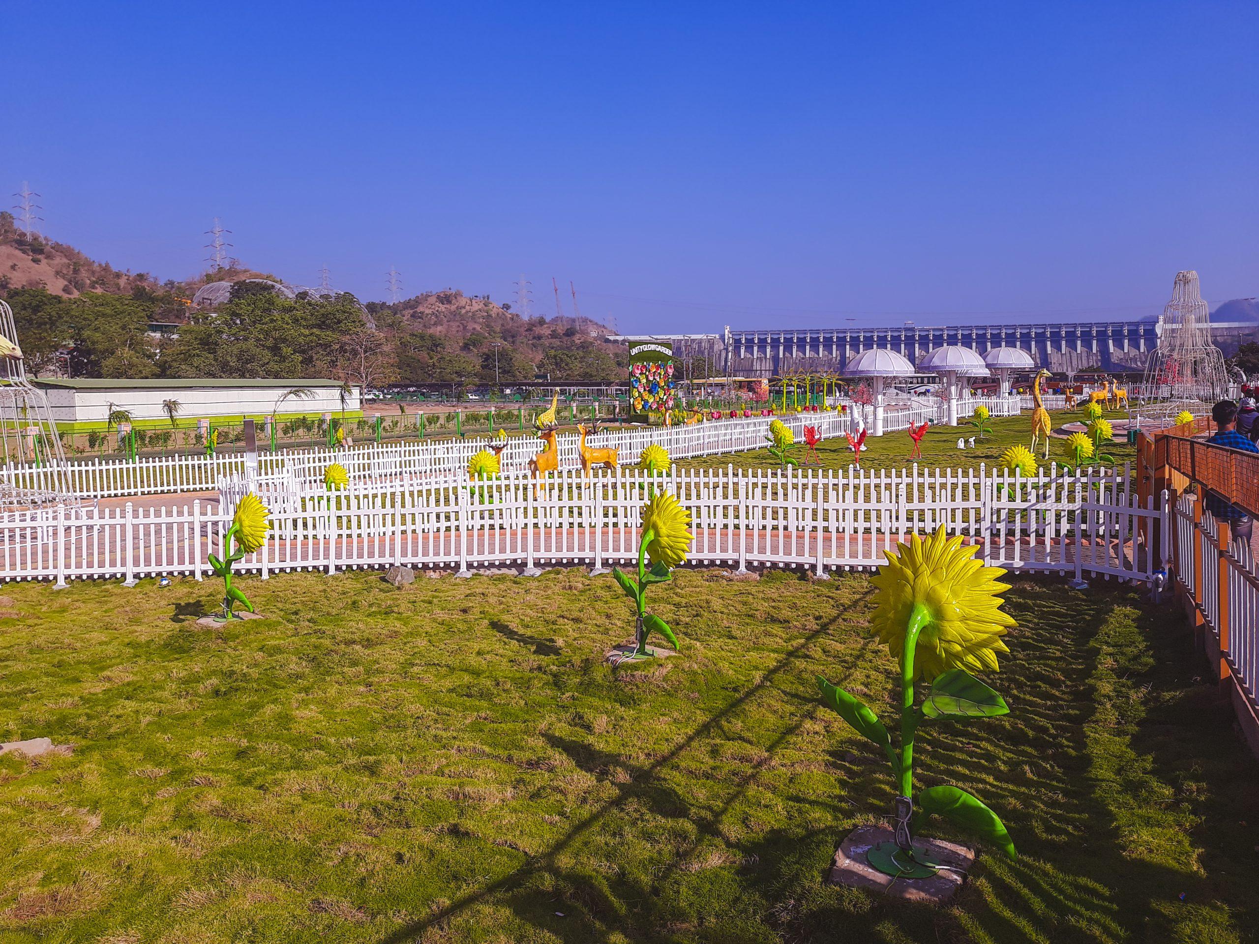 Manmade flower garden