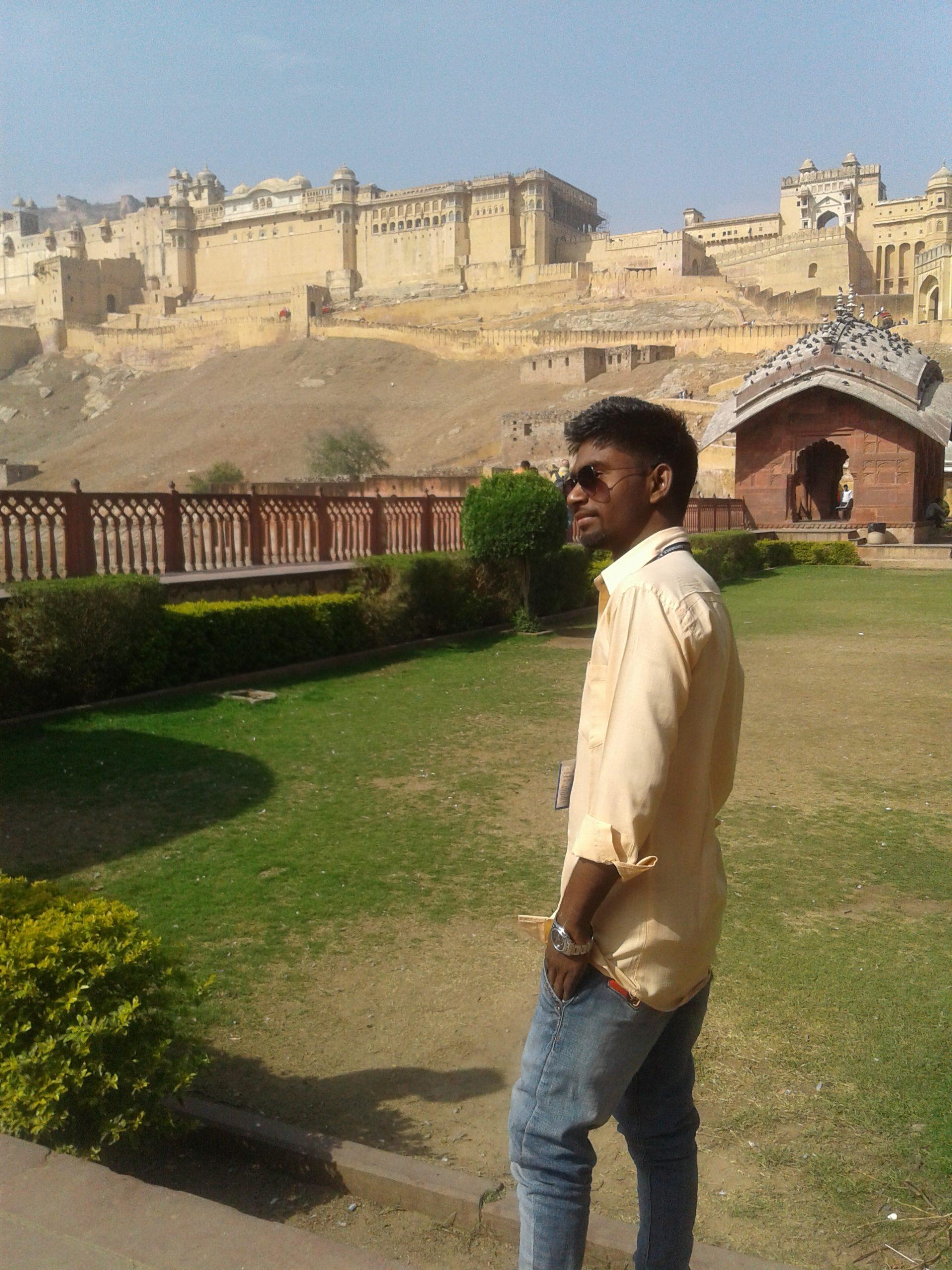A boy at tourist spot