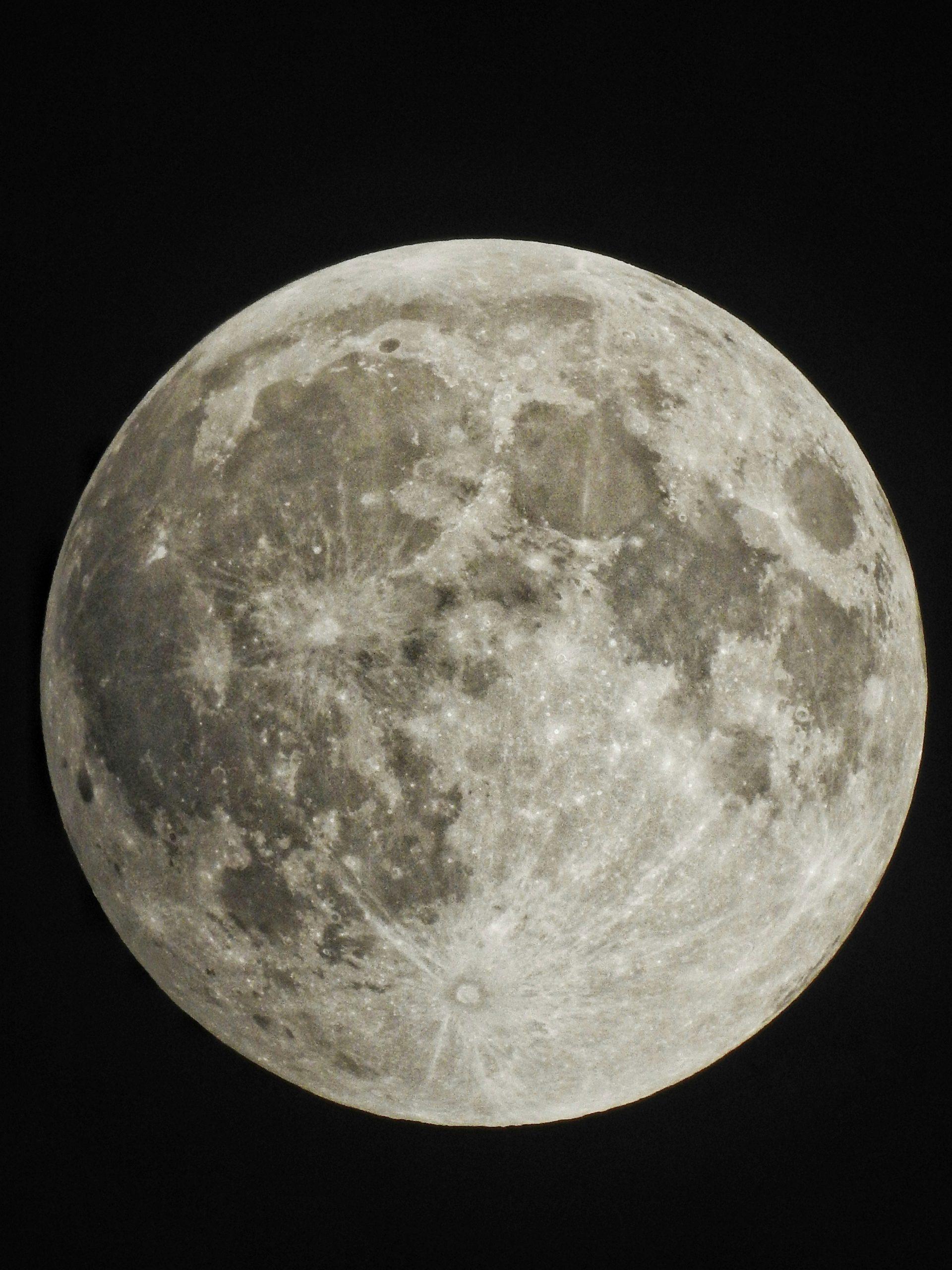 Moon macro view