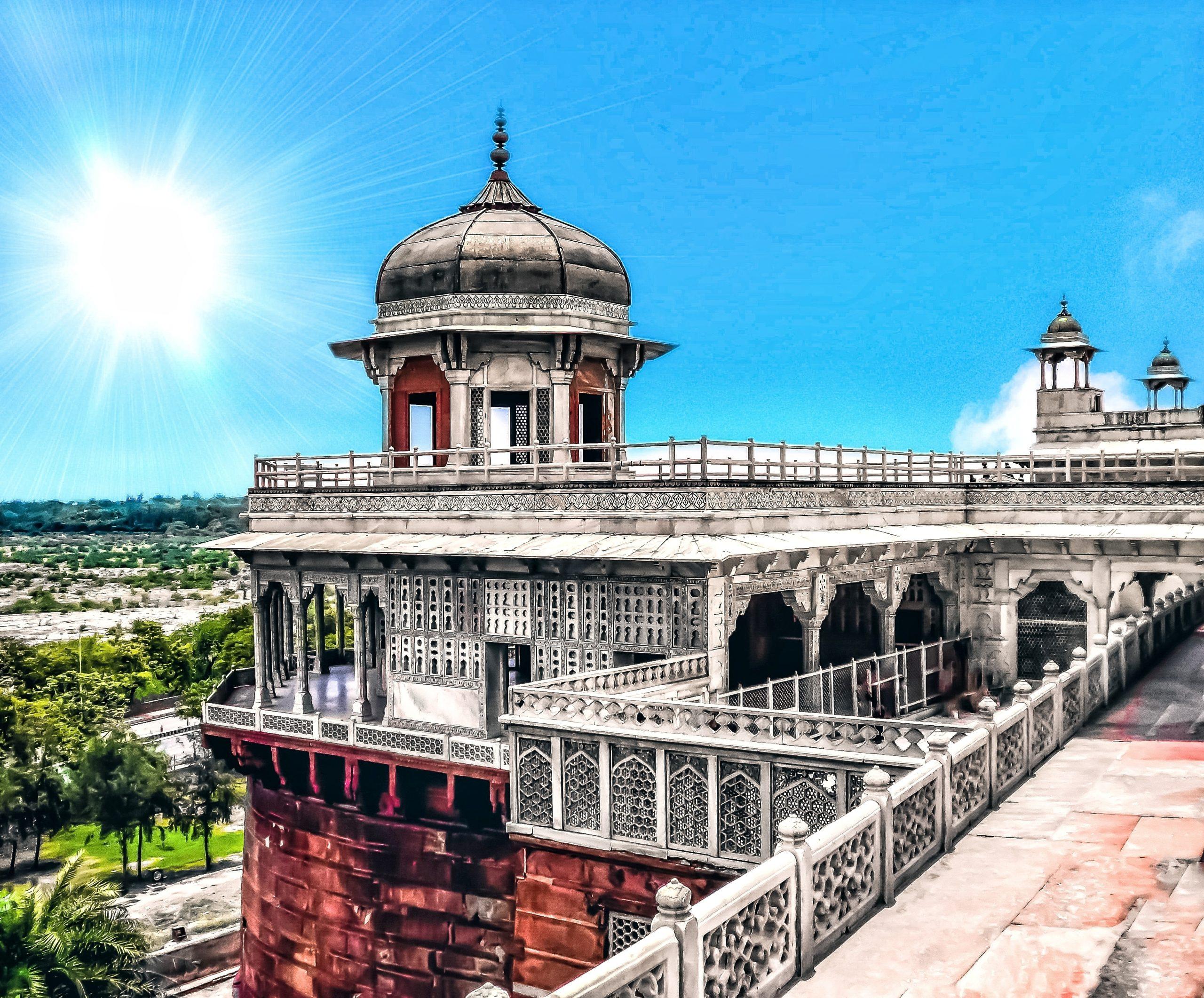 Monument in Sunshine Agra India