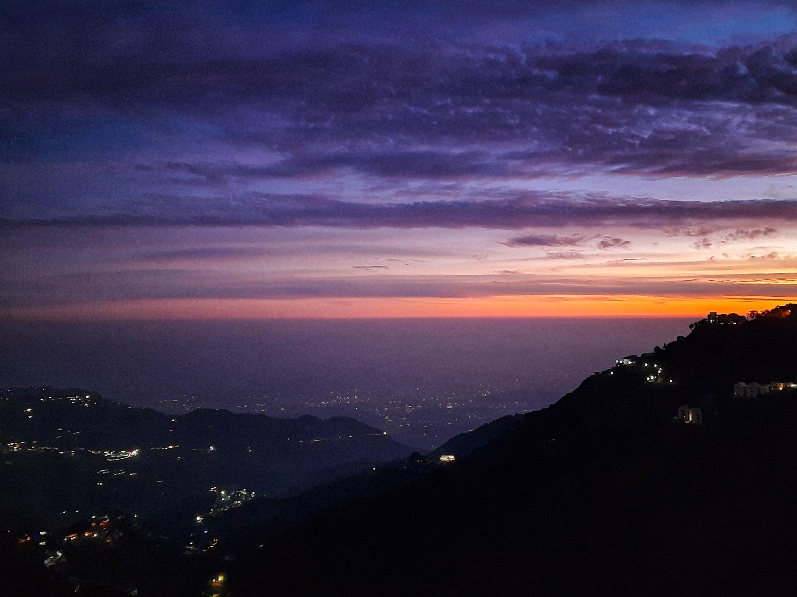night view of Mussoorie
